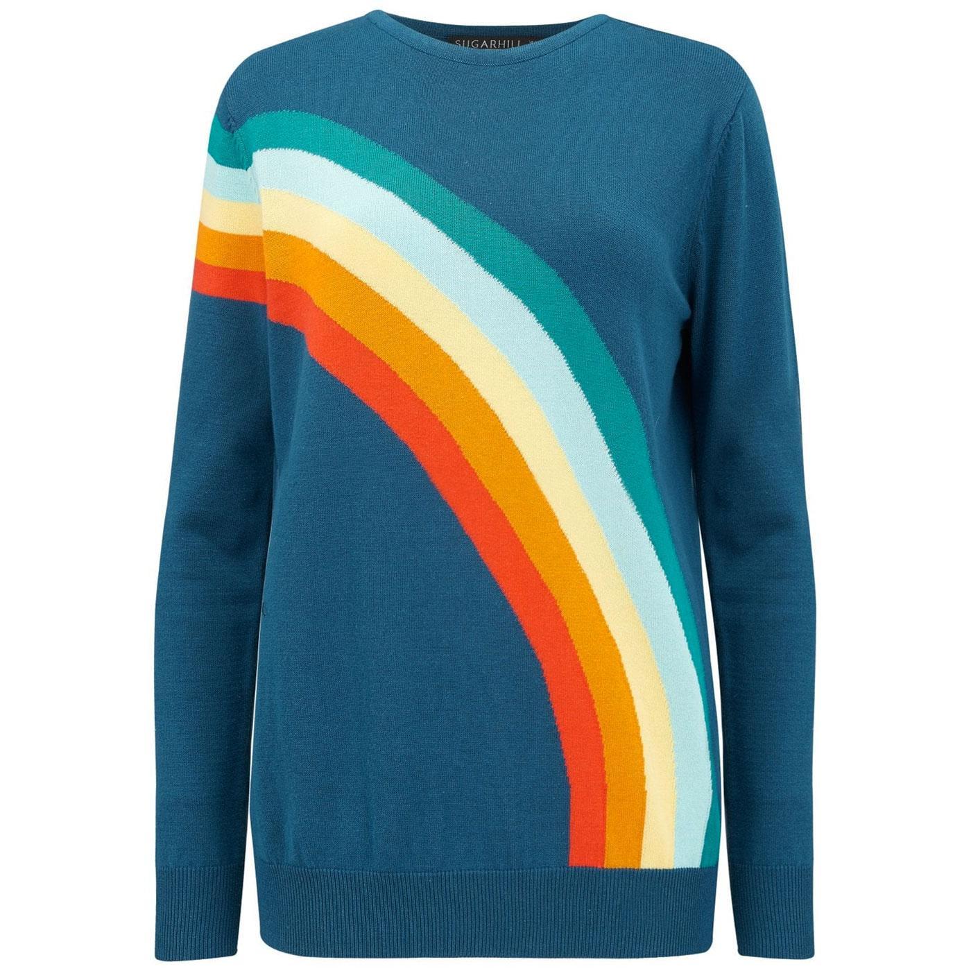 Rita Rainbow SUGARHILL BOUTIQUE 70s Sweater Teal