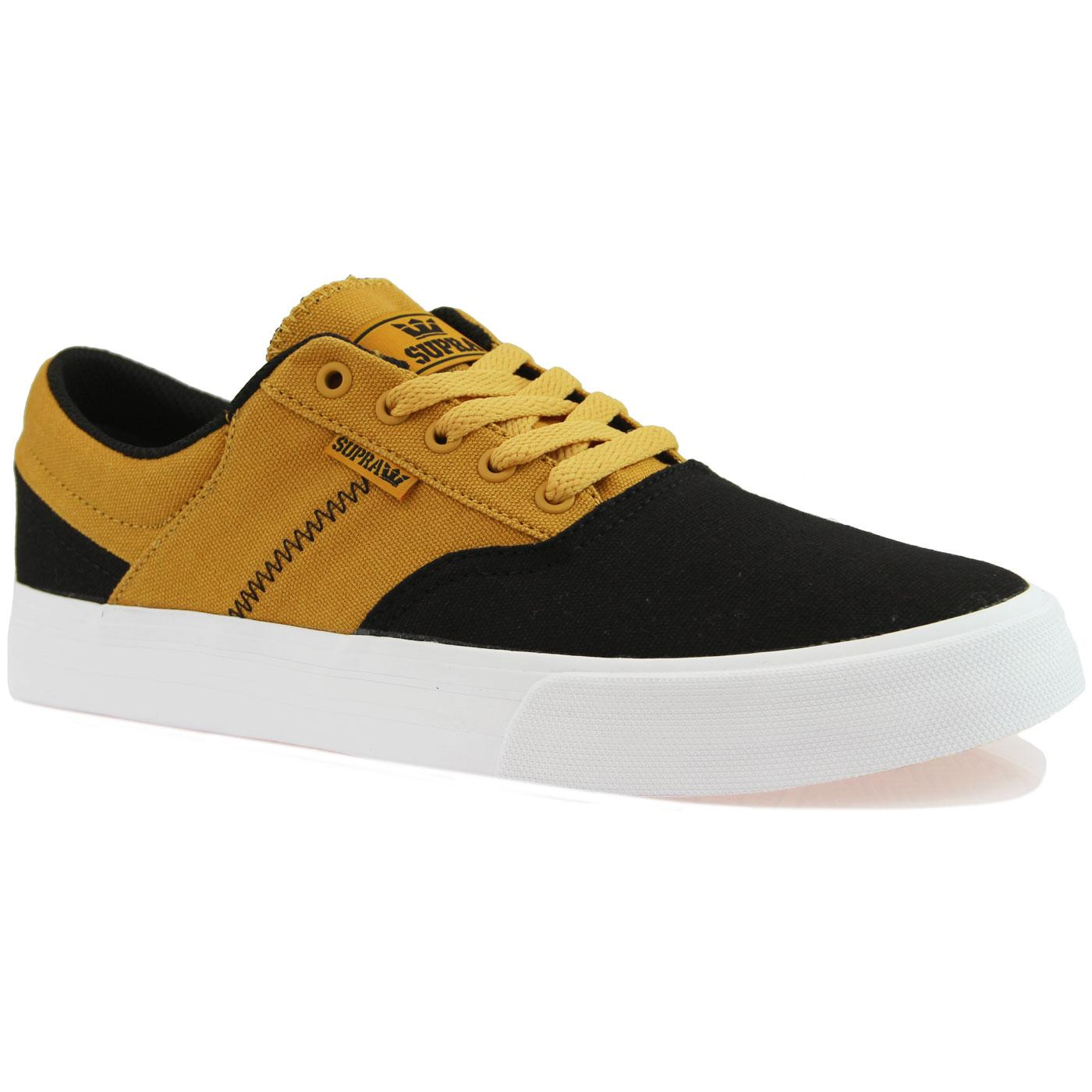 Cobalt SUPRA Low Top Trainers Black/Golden White