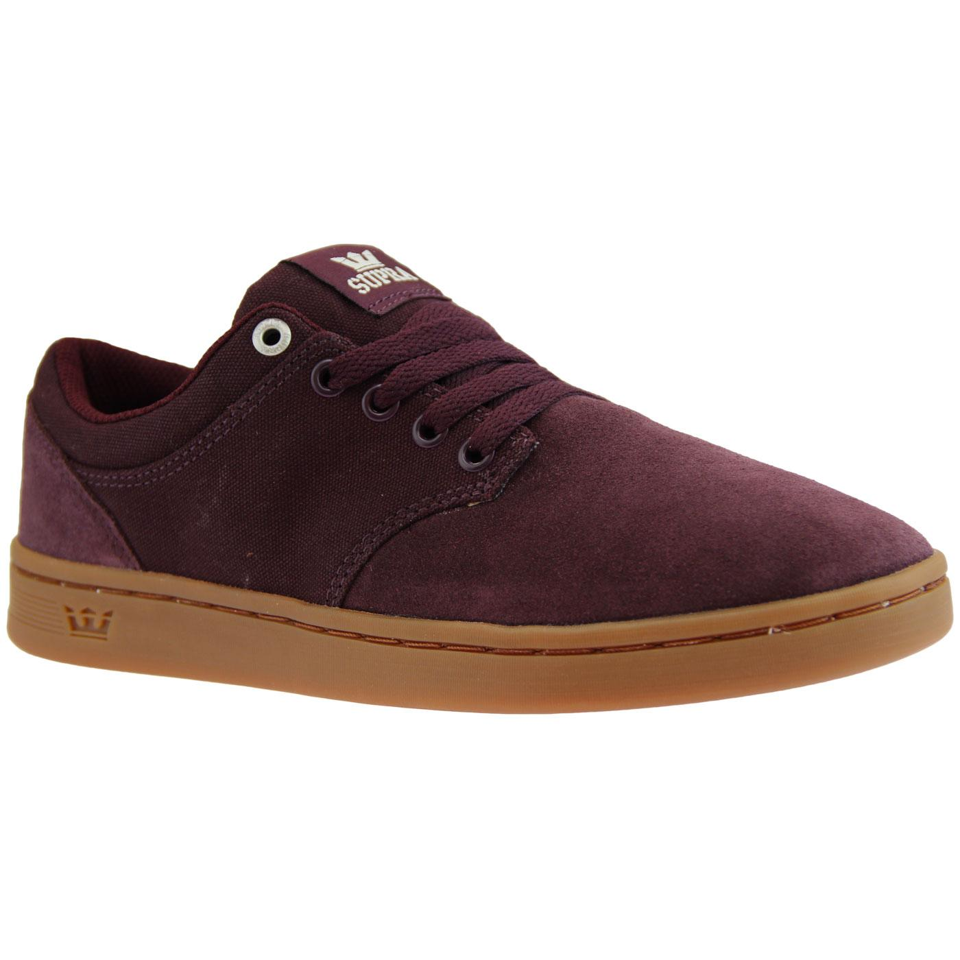 Chino Court SUPRA Retro Low Top Skate Trainers W/G