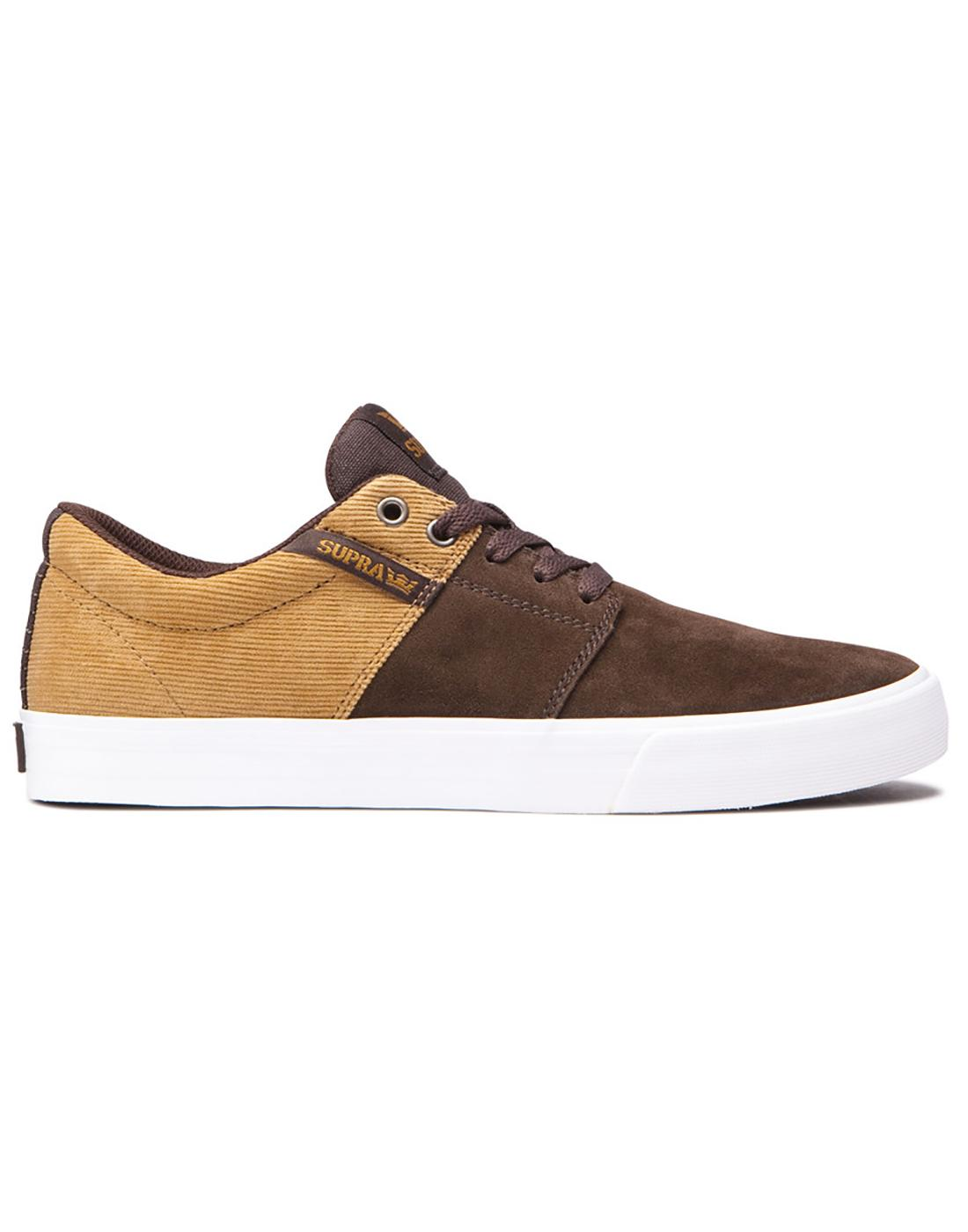 Stacks II Vulc SUPRA Retro 70s Cord Trainers Brown