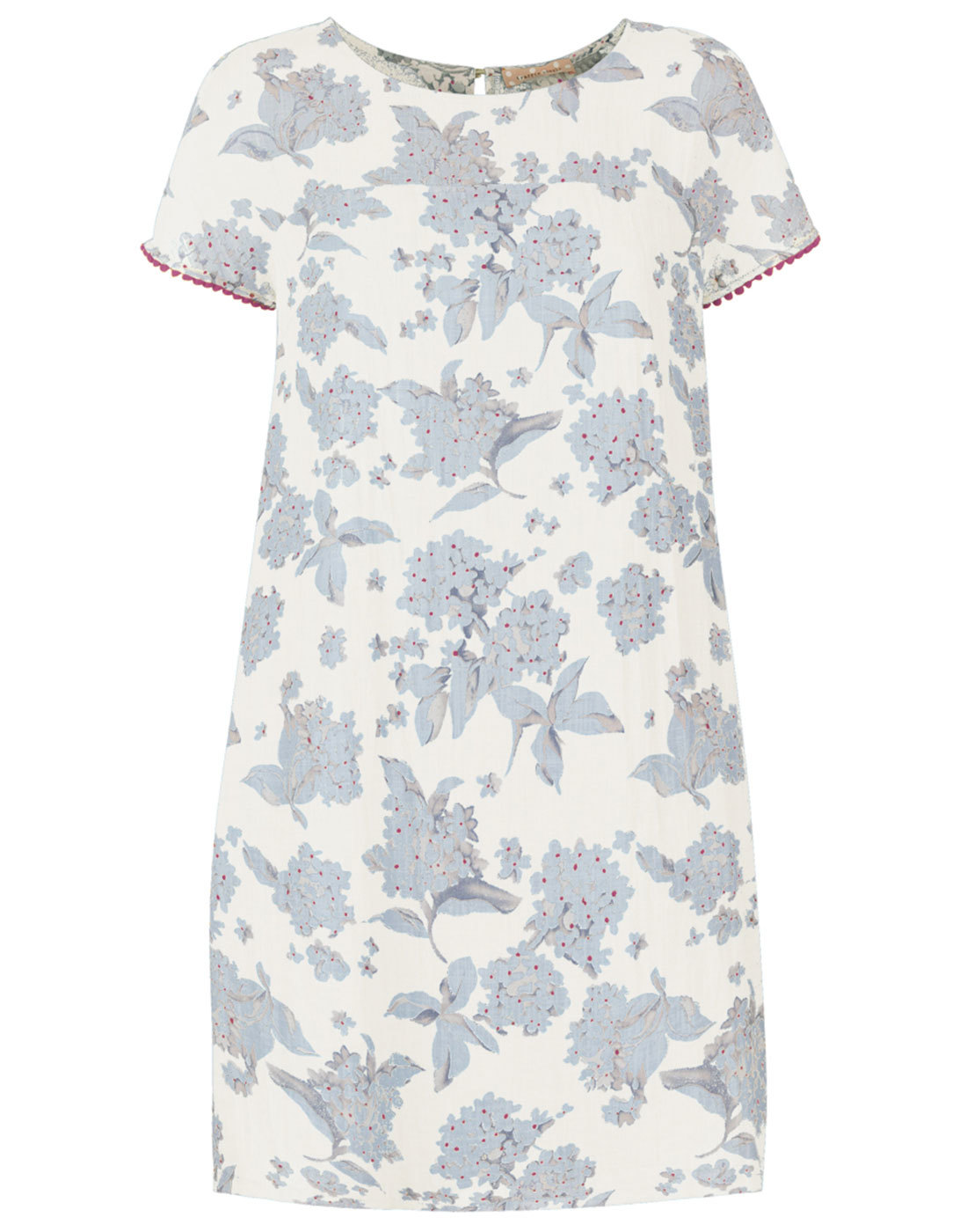 You Wish TRAFFIC PEOPLE 60s Mod Floral Linen Dress