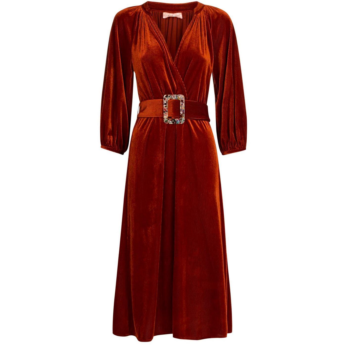 Belt Up TRAFFIC PEOPLE 70s Velvet Cord Belt Dress