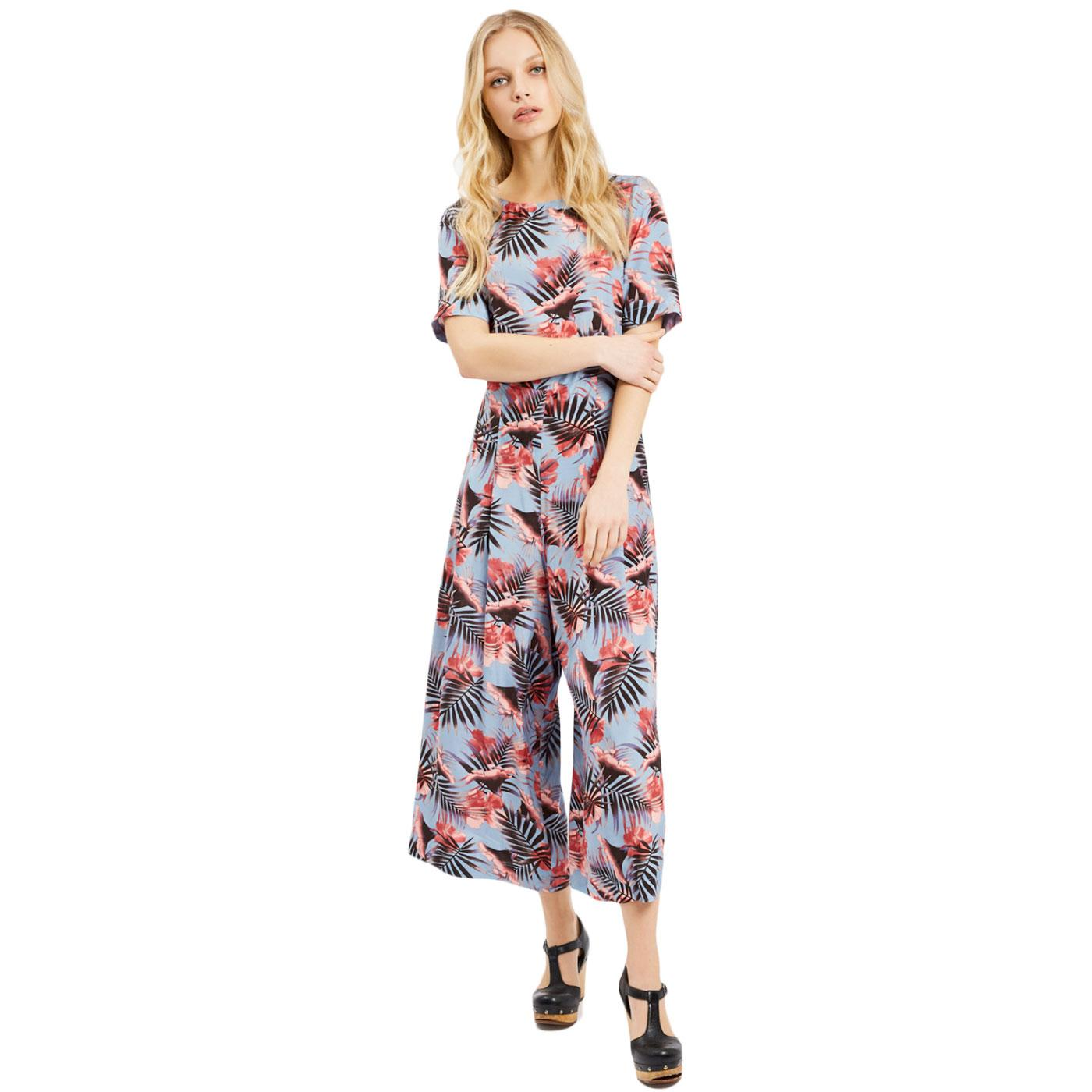 Bianca TRAFFIC PEOPLE Retro 70s Palm Jumpsuit
