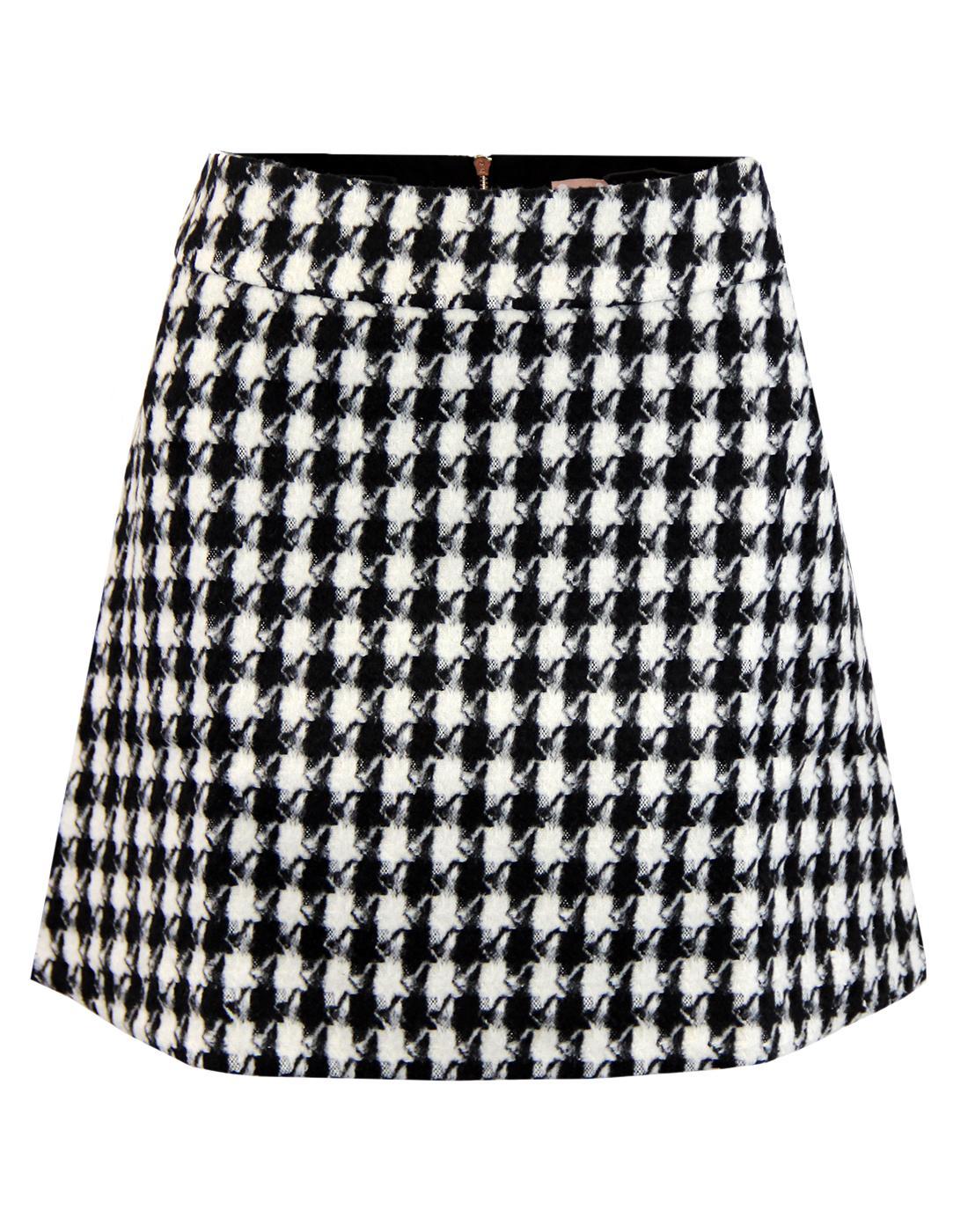 TRAFFIC PEOPLE Retro 60s Mod Dogtooth Mini Skirt
