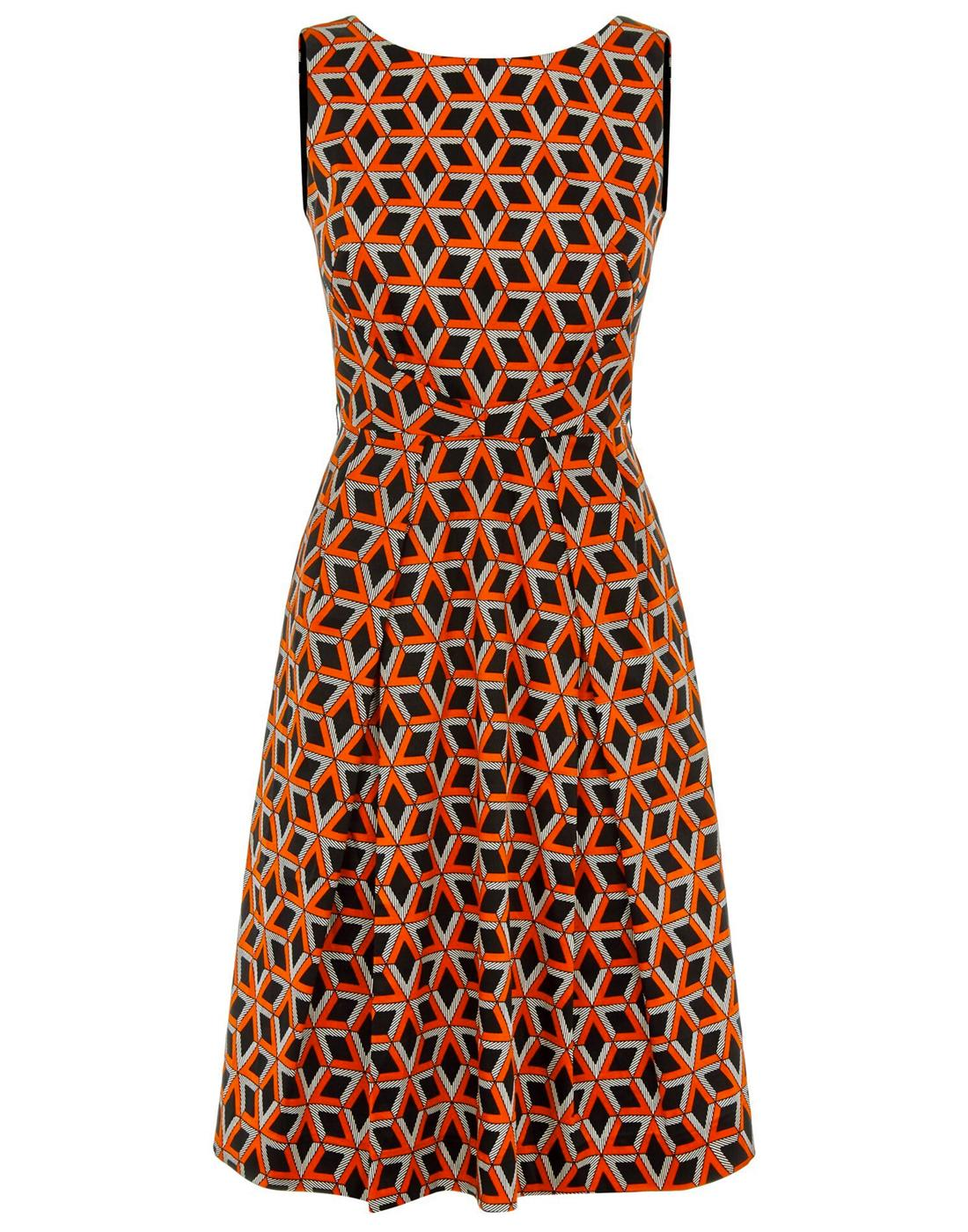 Doris TRAFFIC PEOPLE Retro 60s Pattern Party Dress