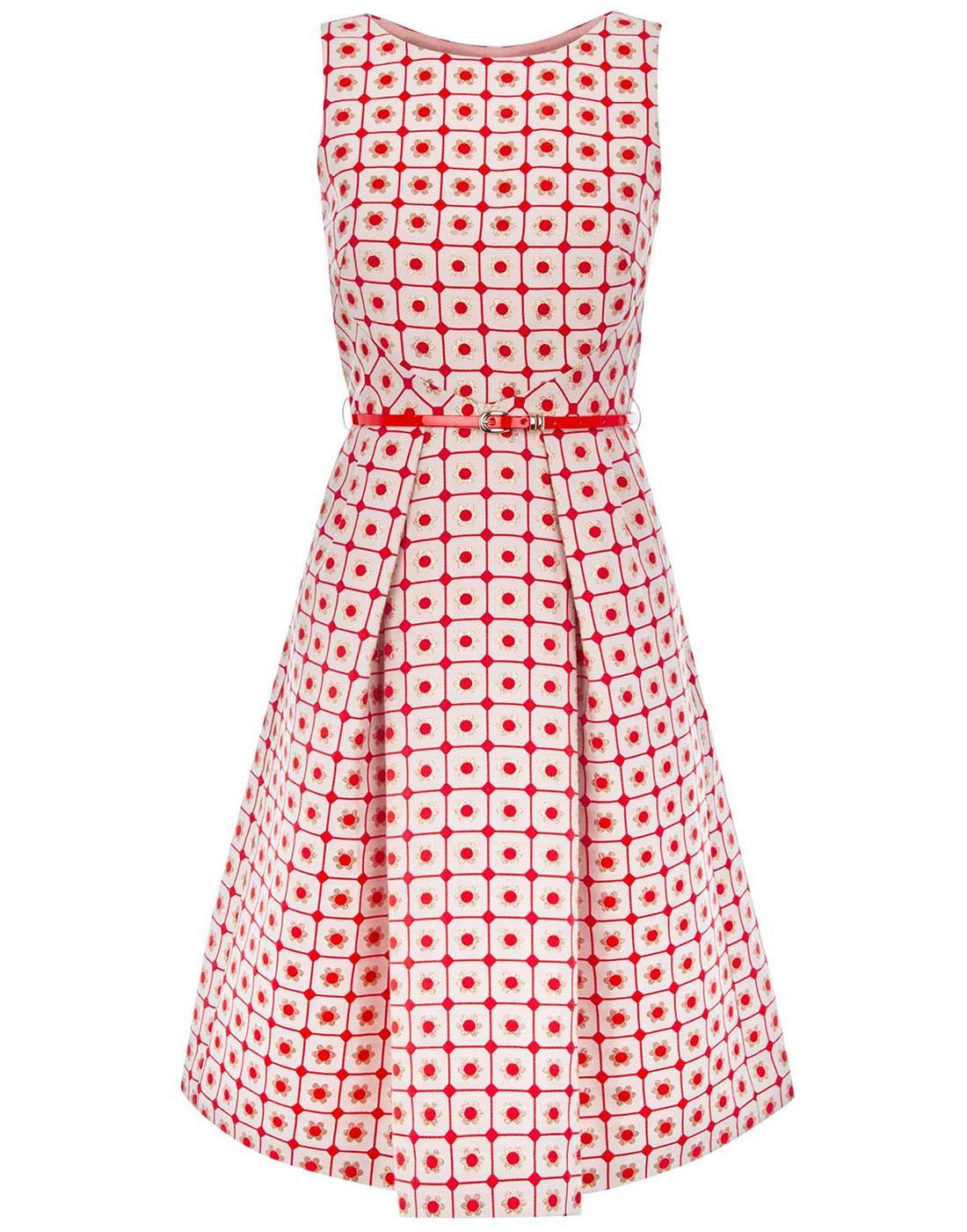 Doris TRAFFIC PEOPLE Retro 60s Pattern Geo Dress
