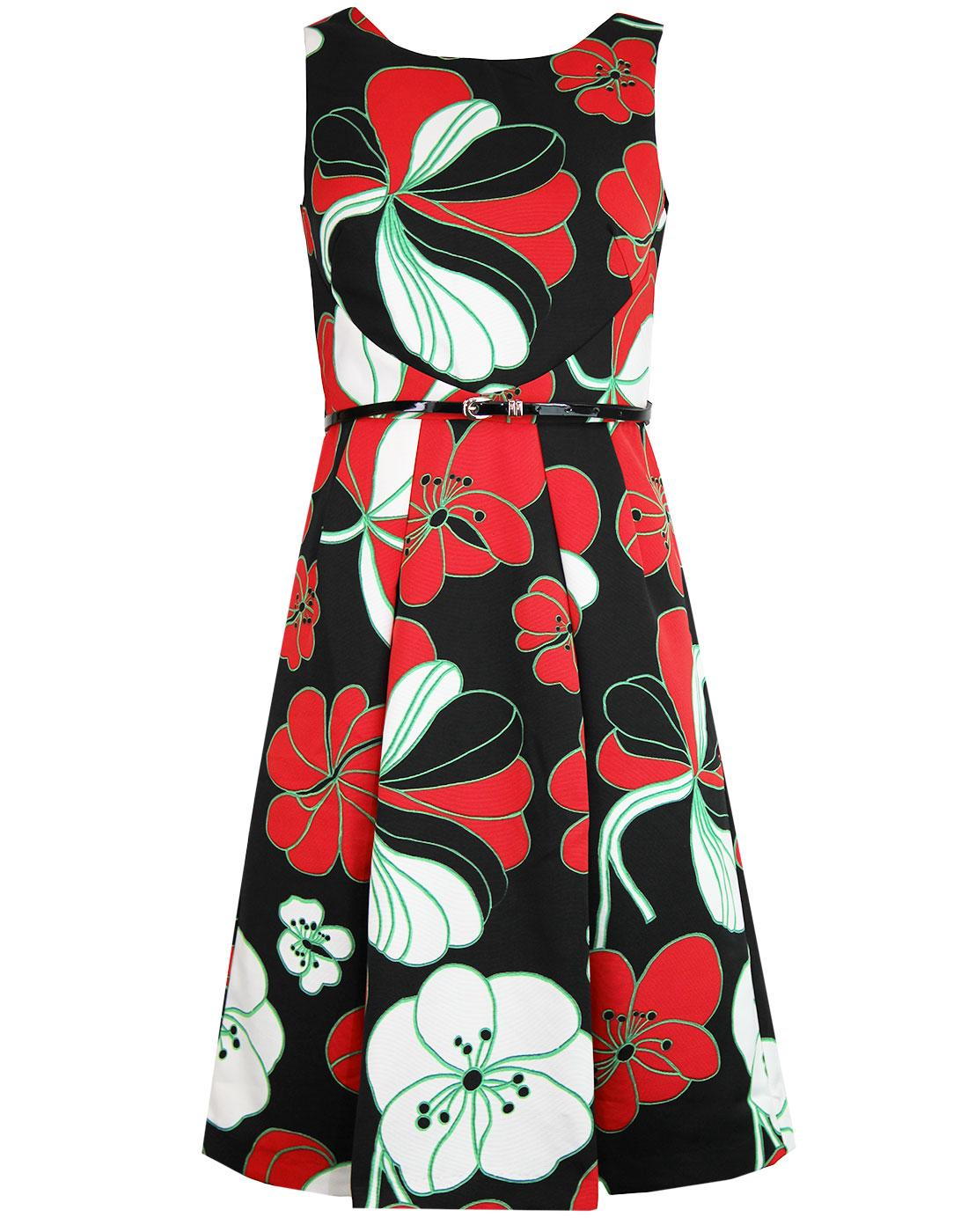 Doris TRAFFIC PEOPLE Retro 60s Floral Summer Dress