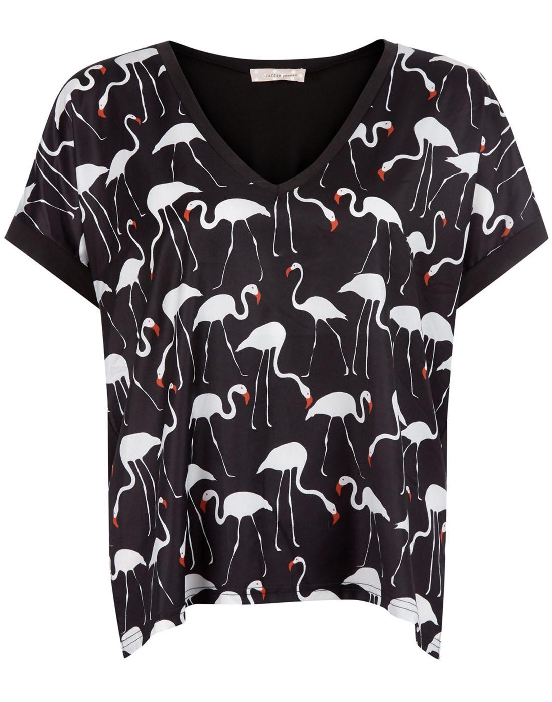 Fantasy of Flamingos TRAFFIC PEOPLE Retro 80s Tee