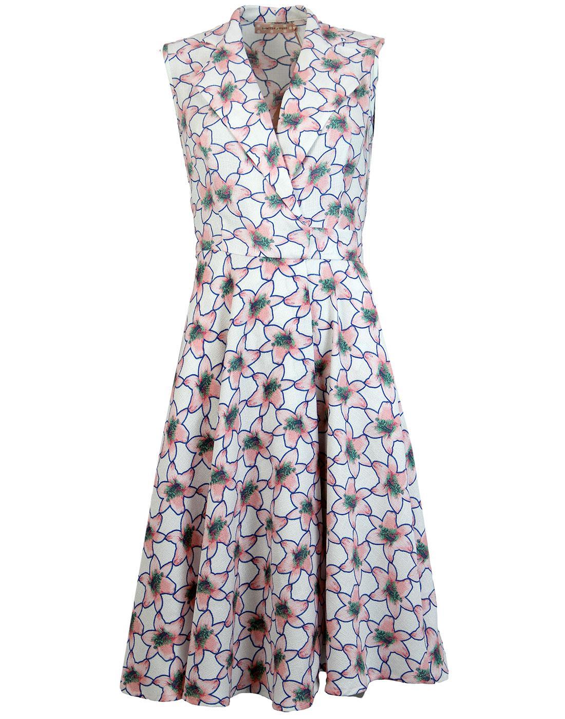 Prom TRAFFIC PEOPLE 70's Retro Flower Wrap Dress