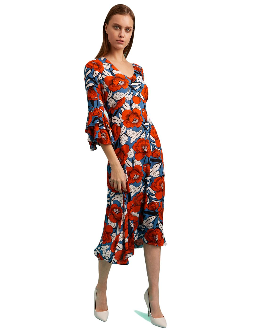 Luck Be A Lady TRAFFIC PEOPLE Retro 70s Dress