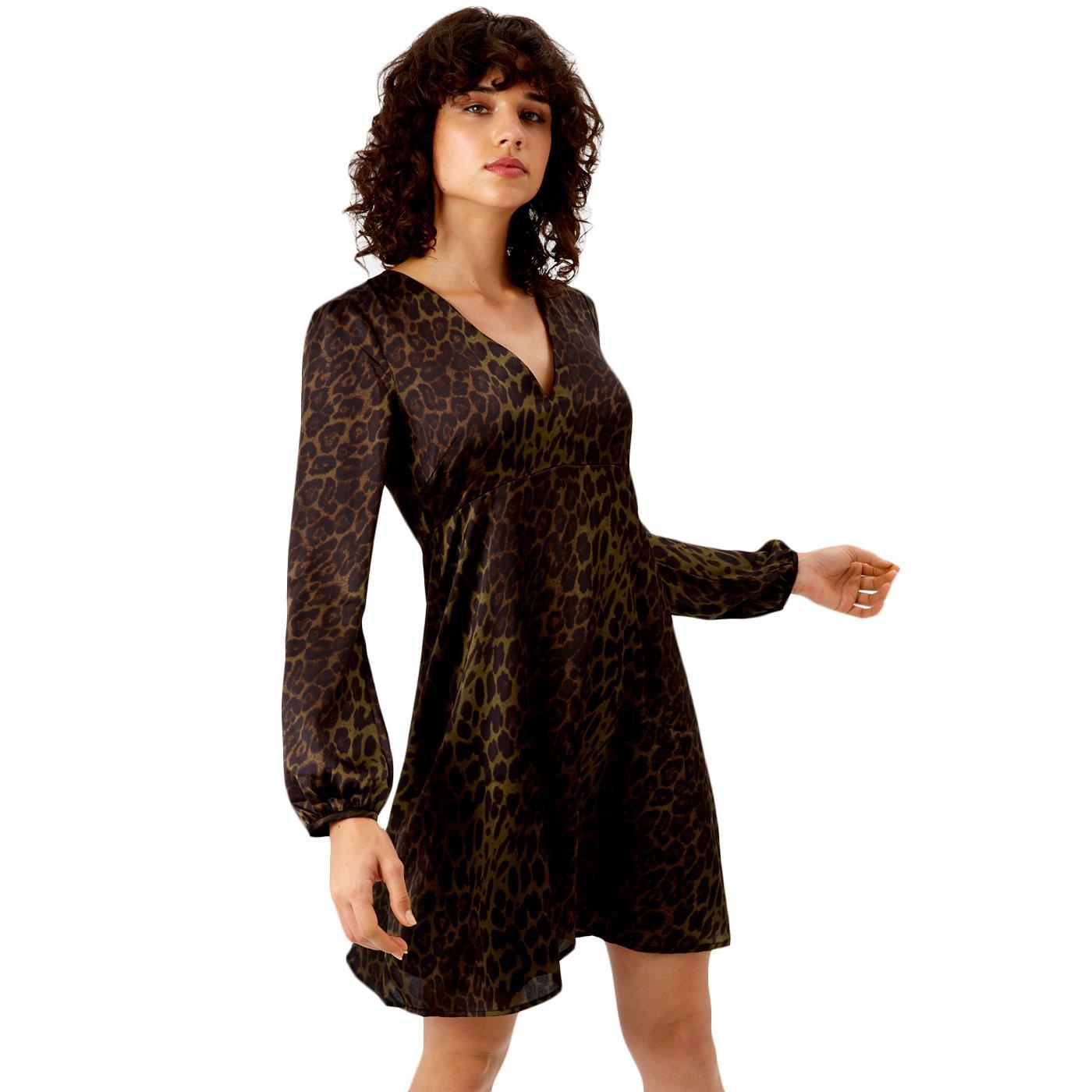Mama Mia TRAFFIC PEOPLE 70s Leopard Print Dress