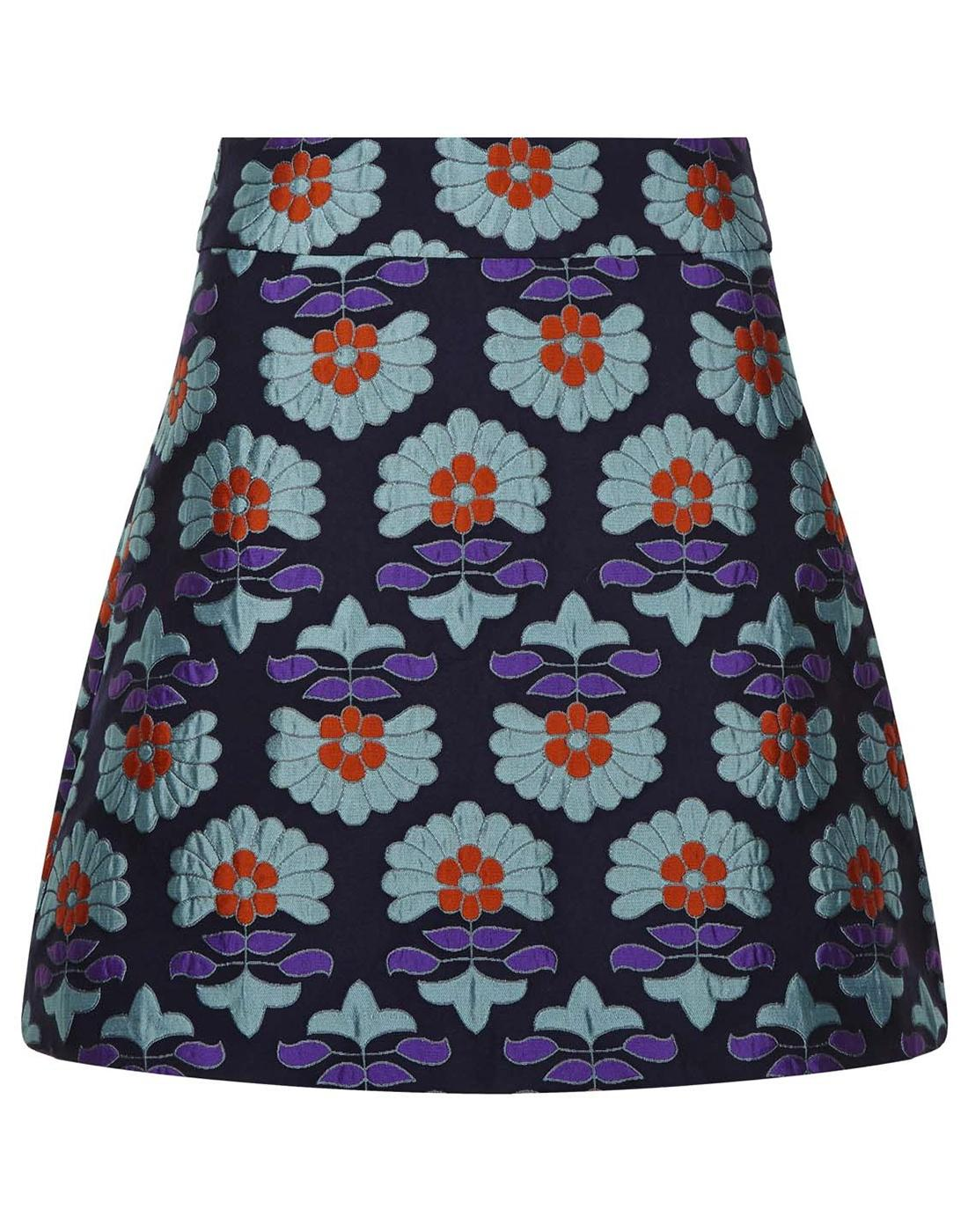 TRAFFIC PEOPLE Flowers of Fortune Mod Mini Skirt