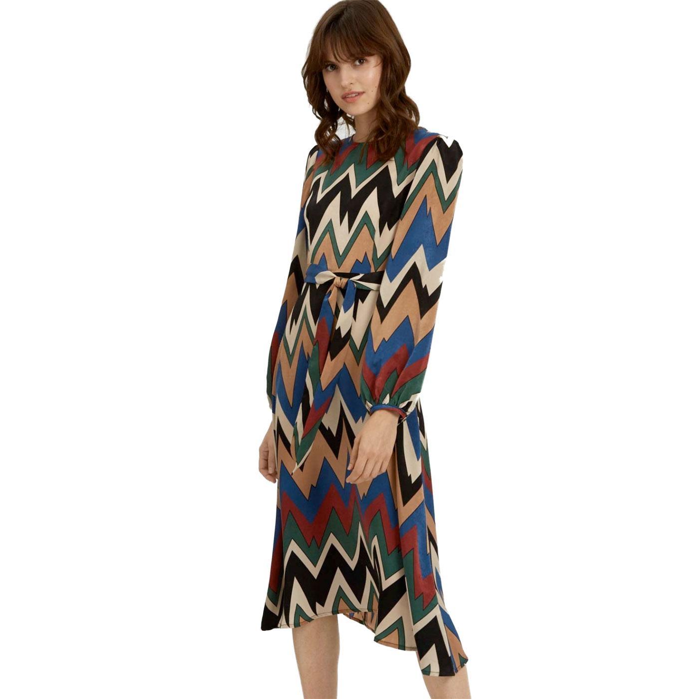 Mood Dress TRAFFIC PEOPLE Retro 70s Midi Dress