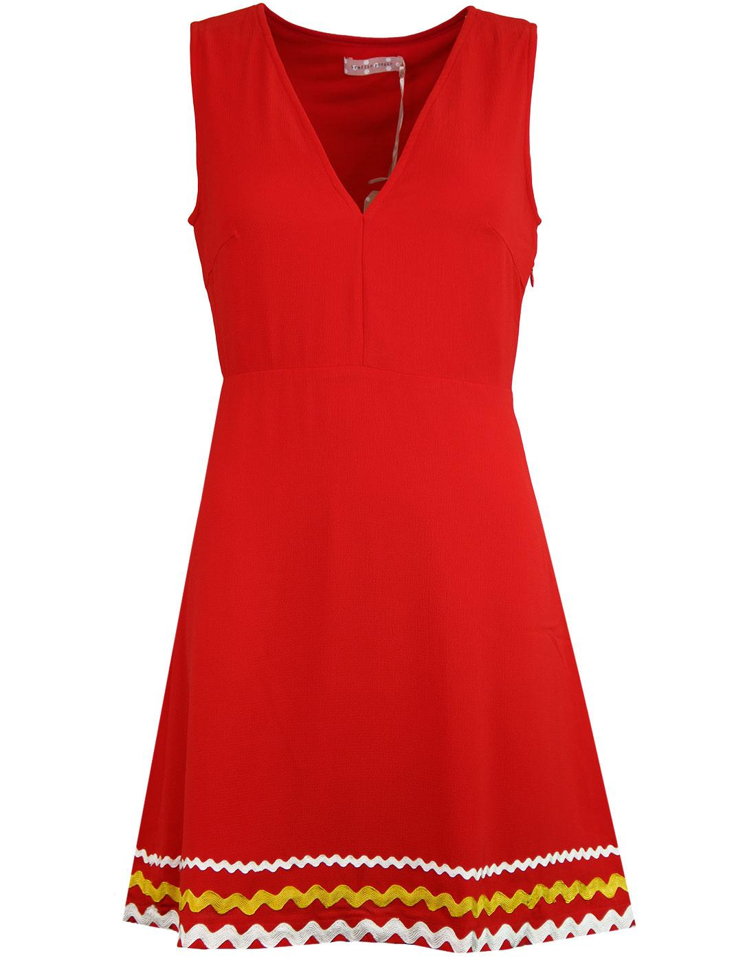 Sweet Promises TRAFFIC PEOPLE 60s Mod Dress RED
