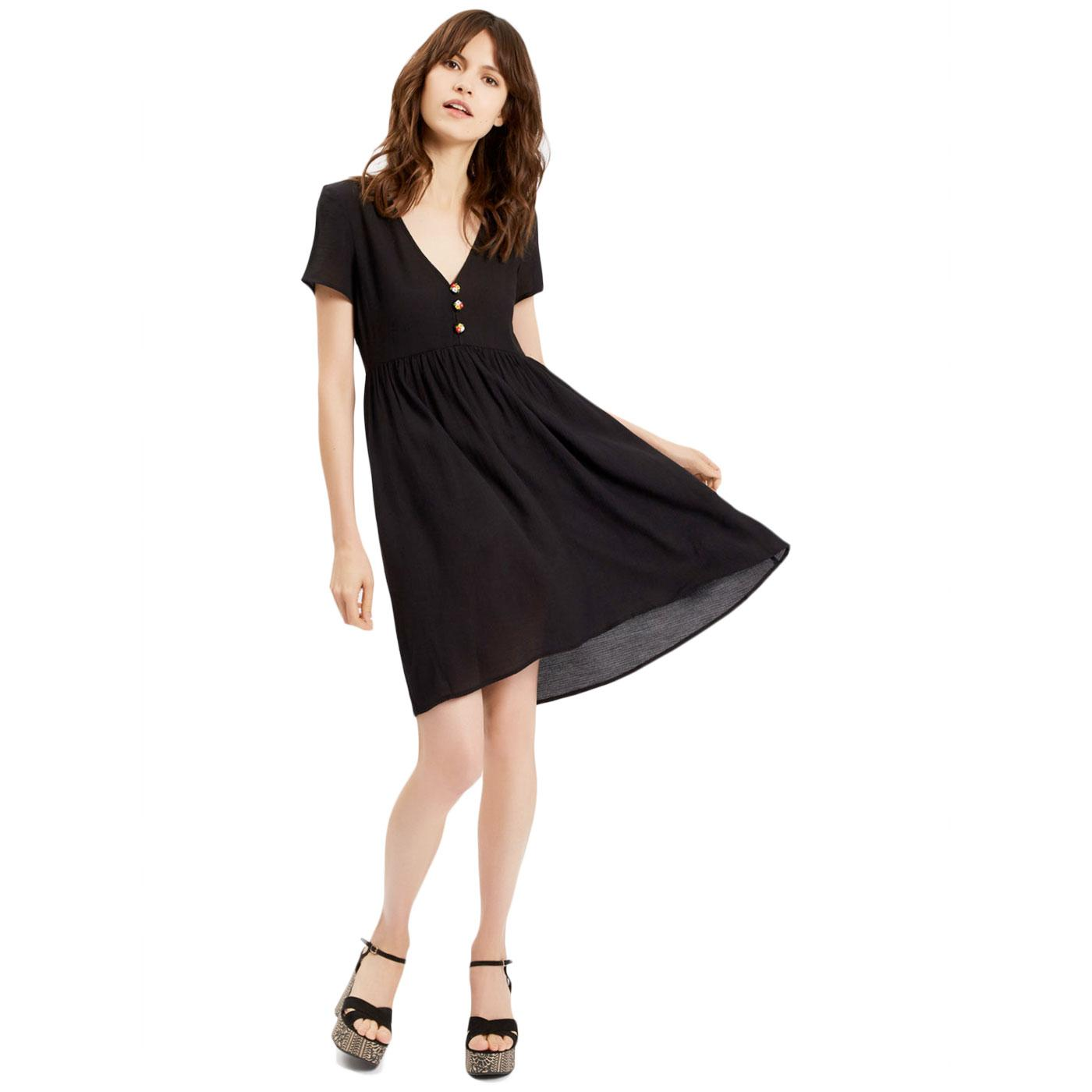 Wanderlust TRAFFIC PEOPLE Retro Little Black Dress