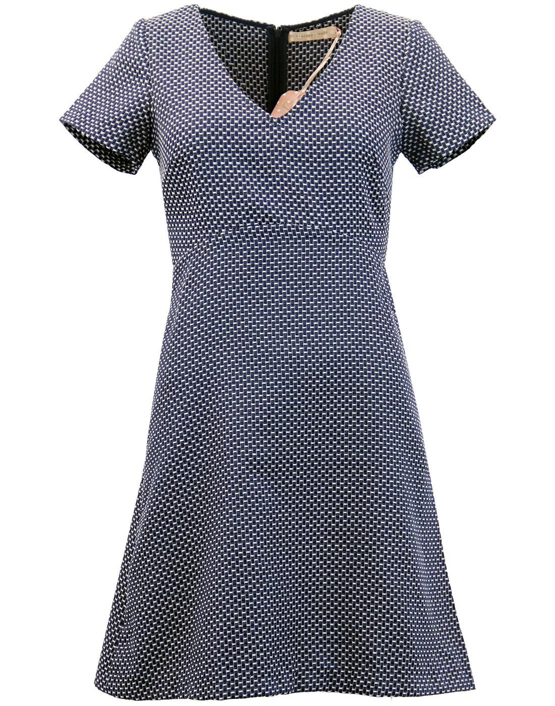Hi Jinks TRAFFIC PEOPLE Retro Textured Weave Dress