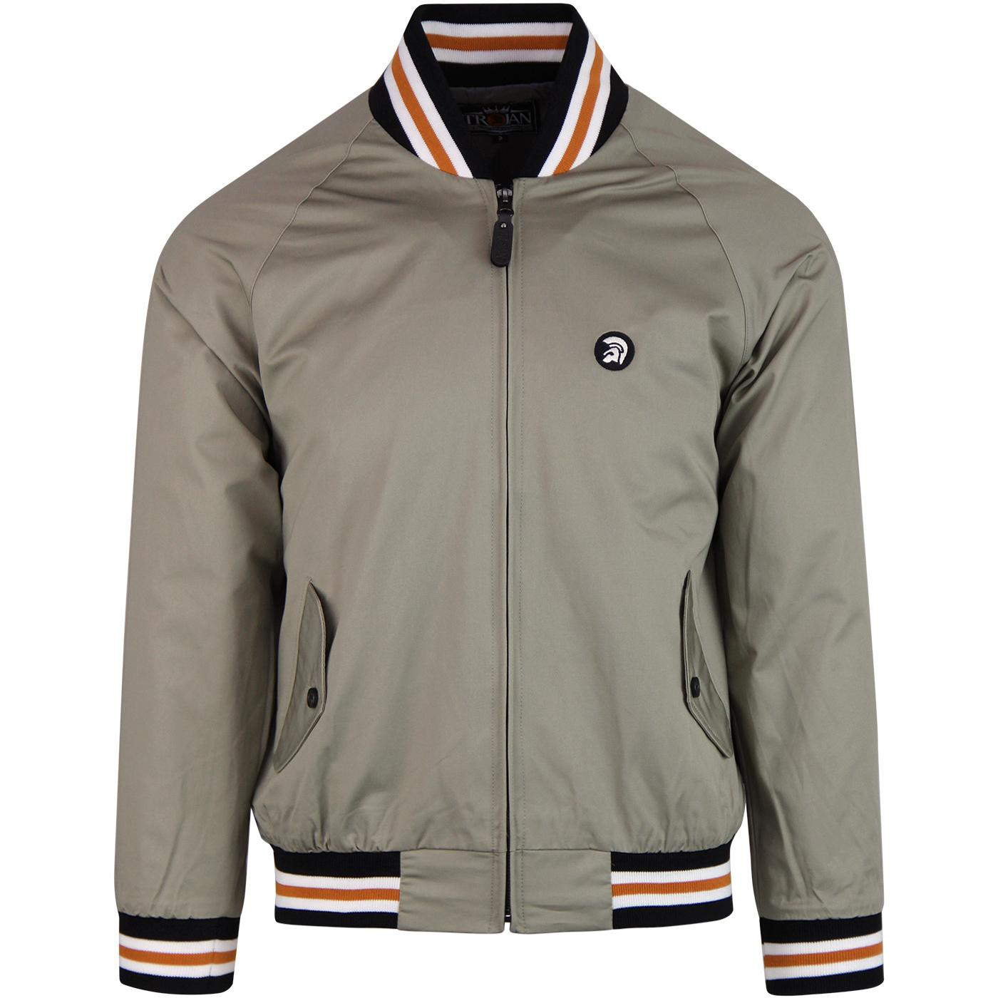 TROJAN RECORDS Retro Mod Monkey Jacket (Sage)