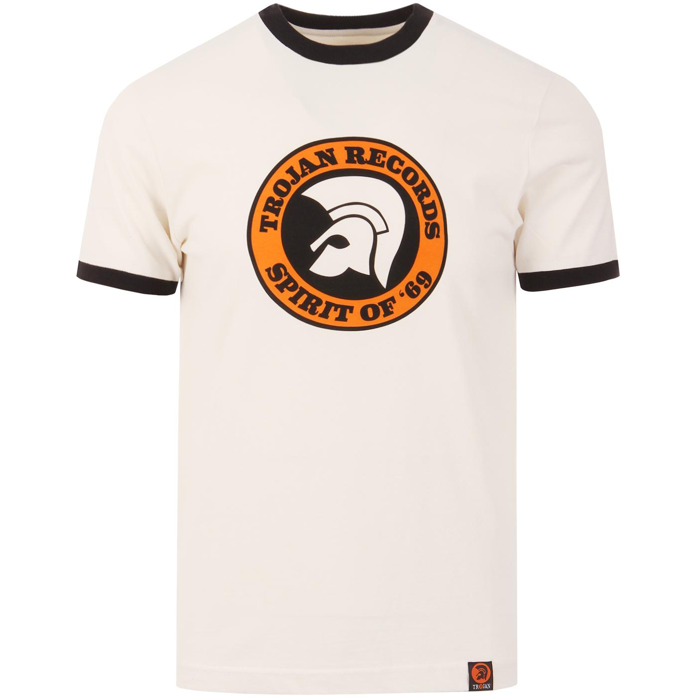 TROJAN RECORDS Mens Mod Spirit Of '69 Ringer Tee E