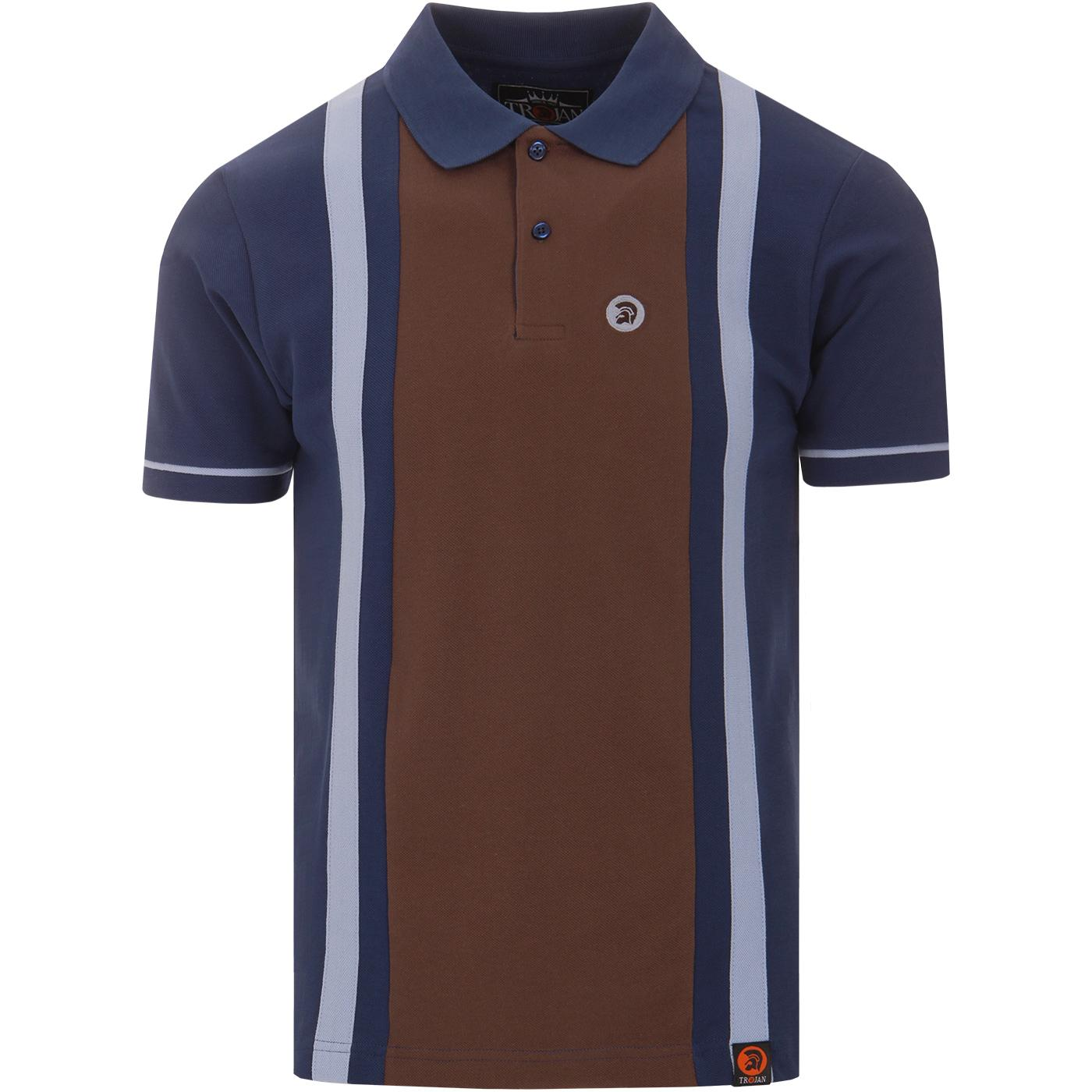 TROJAN RECORDS Retro Mod Pique Panel Polo Shirt EB