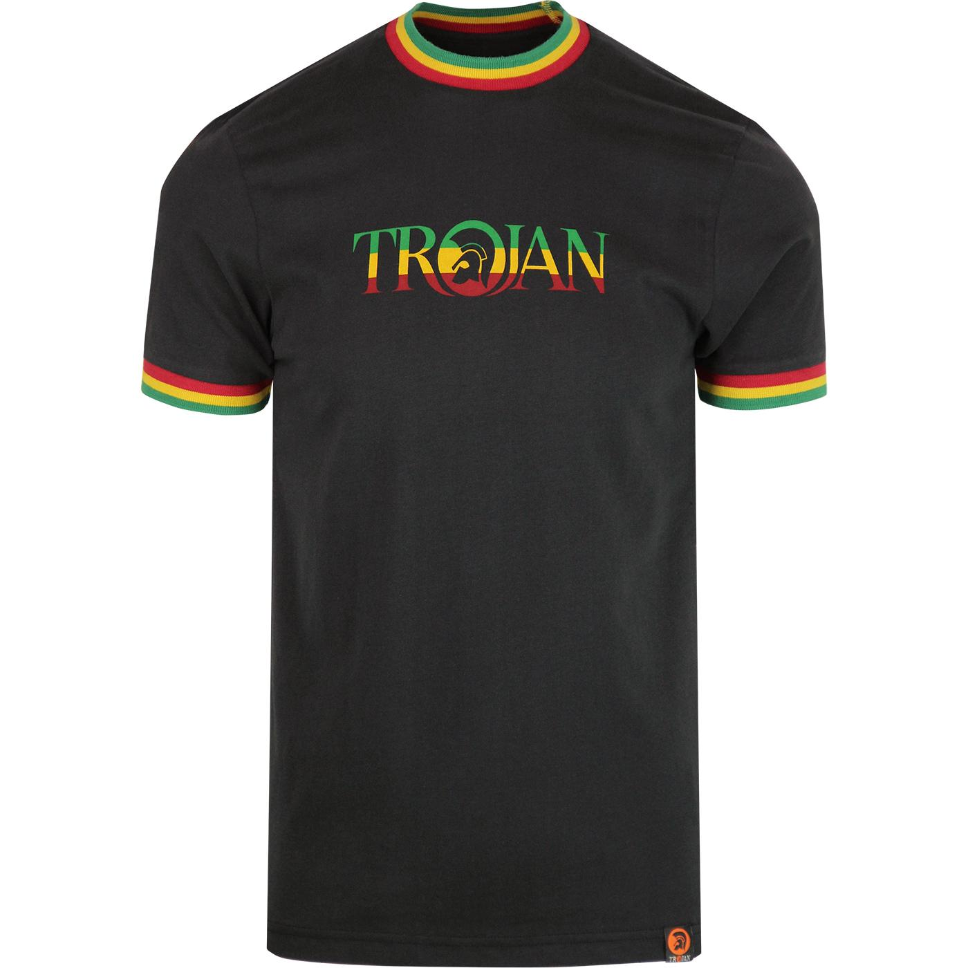 TROJAN RECORDS Retro Rasta Signature Ringer Tee