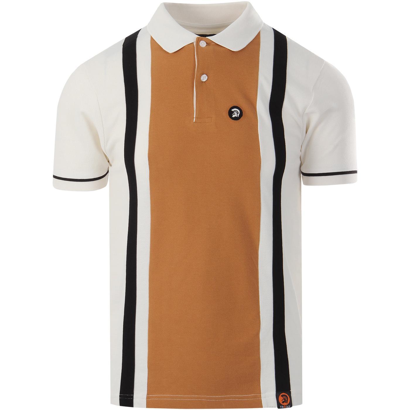 TROJAN RECORDS Retro Mod Pique Panel Polo Shirt E