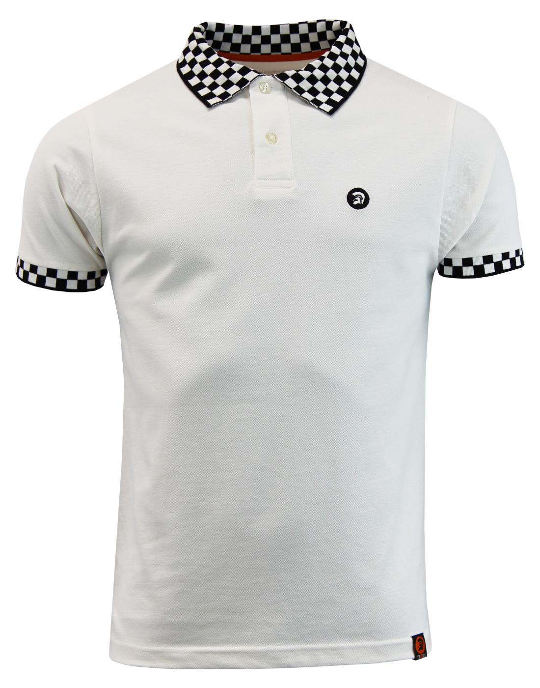 TROJAN RECORDS Ska Mod Revival Checkerboard Polo E