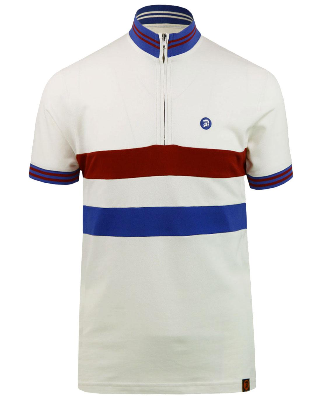 TROJAN RECORDS Retro Mod Chest Stripe Cycling Top