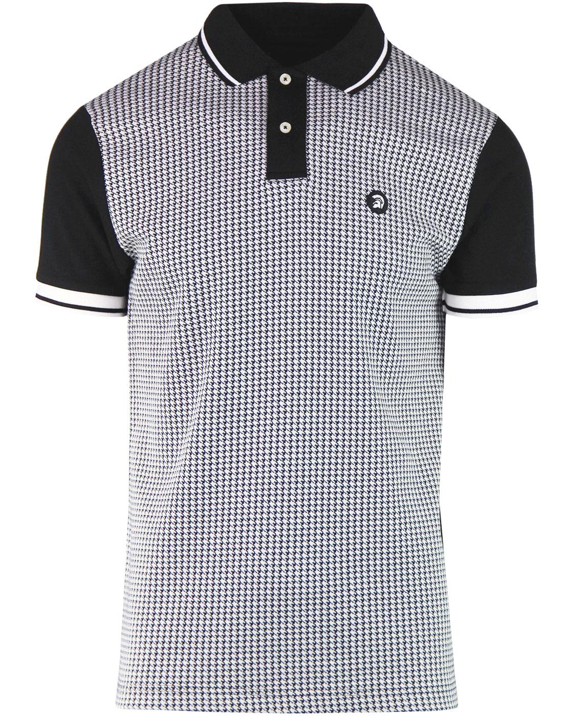 TROJAN RECORDS Men's Ska Mod Tipped Dogtooth Polo