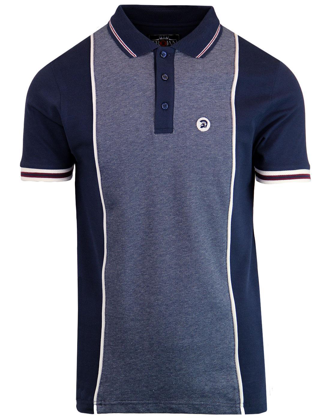 TROJAN RECORDS Mod Ska Oxford Panel Polo Shirt (N)