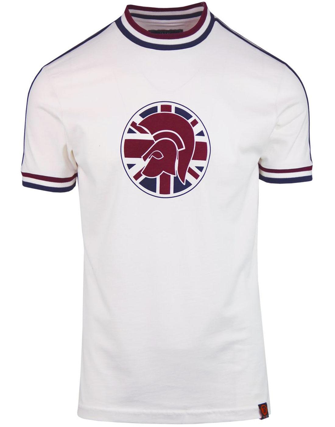 TROJAN RECORDS Retro Mod Union Jack Stripe T-Shirt