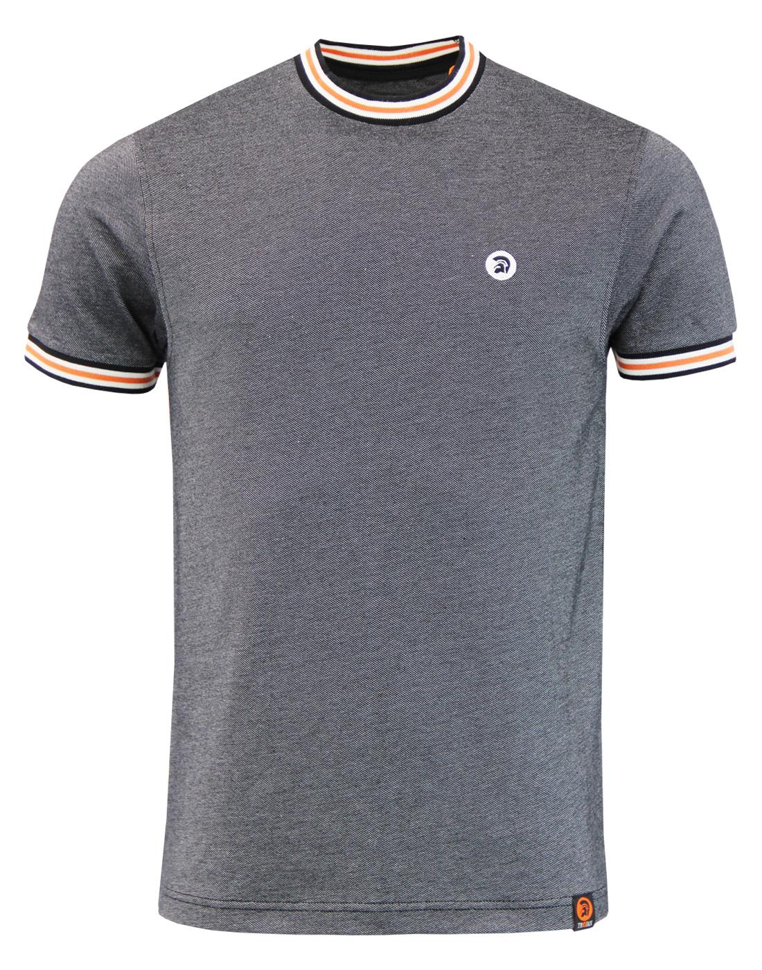 TROJAN RECORDS Retro Tipped Oxford Pique T-Shirt