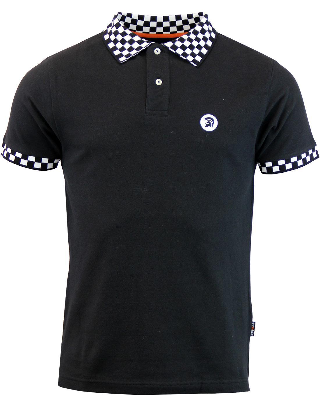 TROJAN RECORDS Ska Mod Revival Checkerboard Polo B