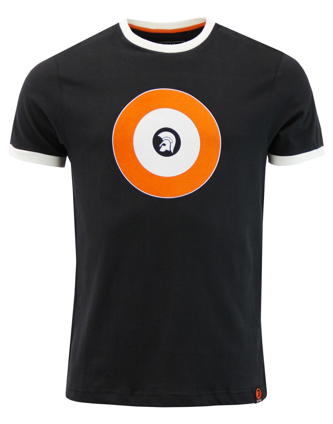 TROJAN RECORDS Helmet Logo Mod Target T-Shirt (B)