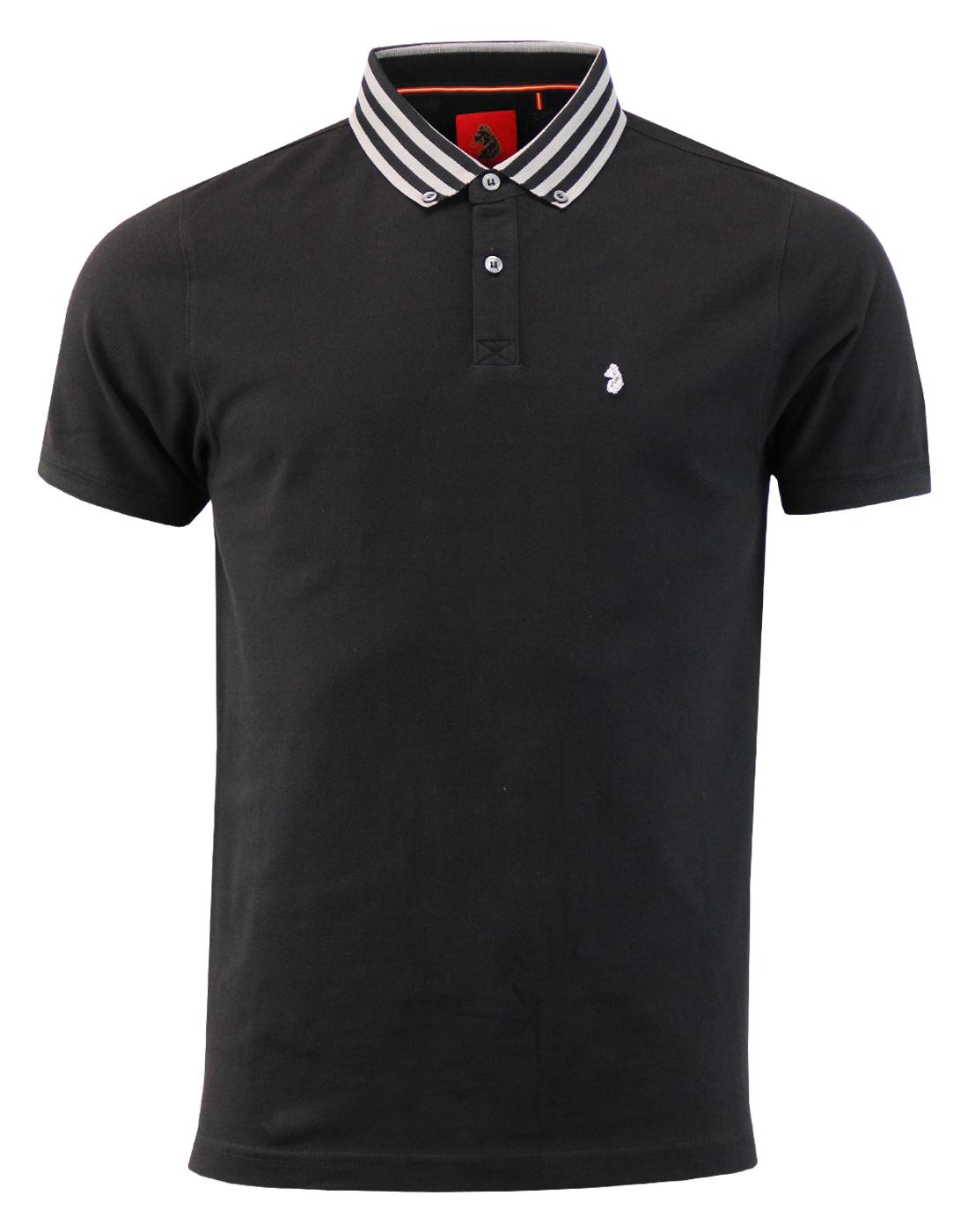 Turtles Heads LUKE 1977 Mod Stripe Collar Polo (B)