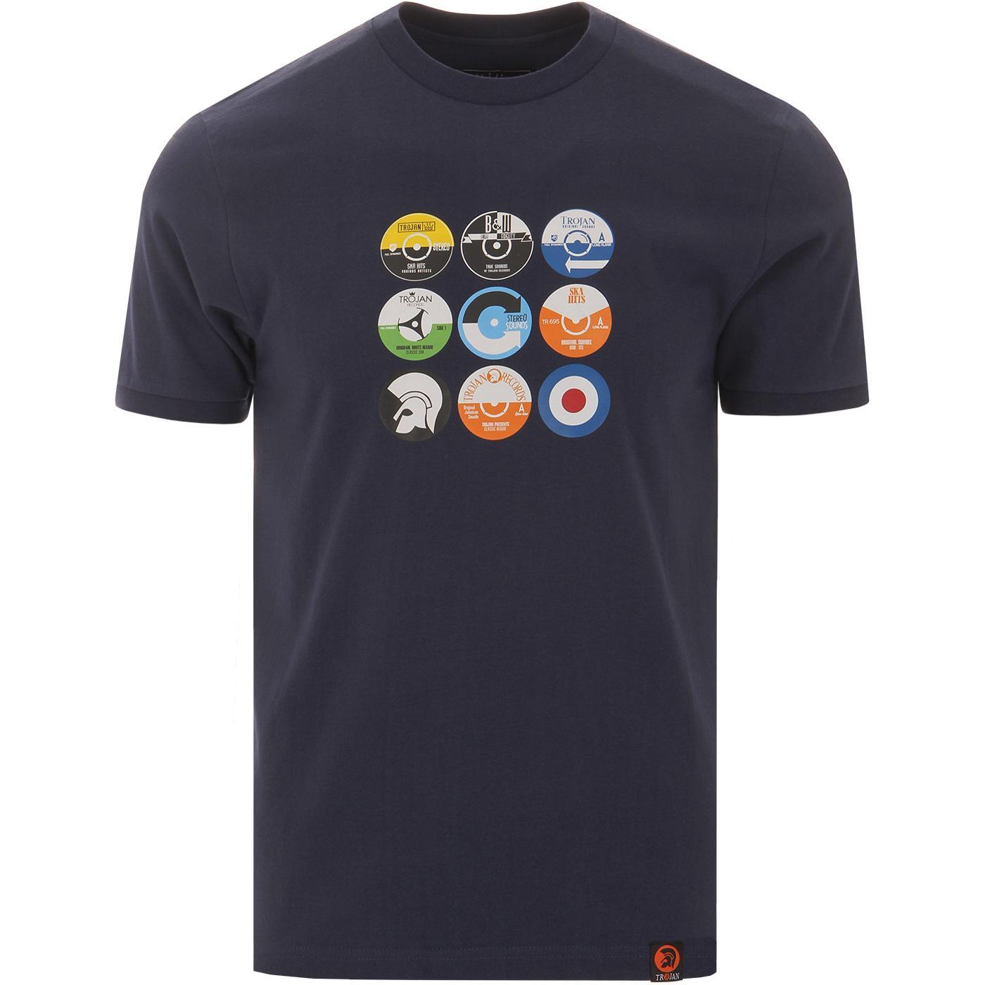 TROJAN RECORDS Retro Mod Vinyl Label Logo T-Shirt