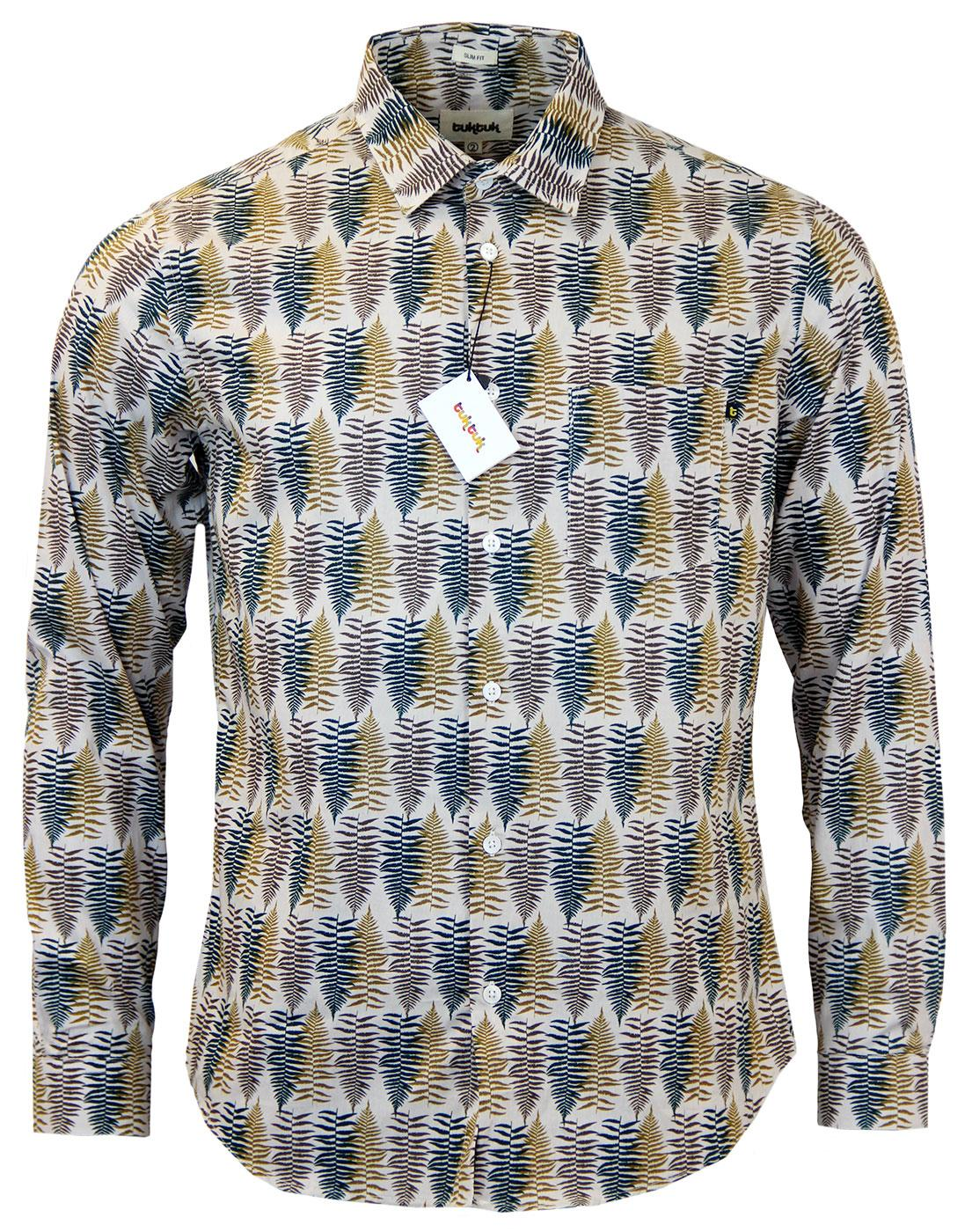 Falling Leaves TUKTUK Retro Leaf Print Shirt