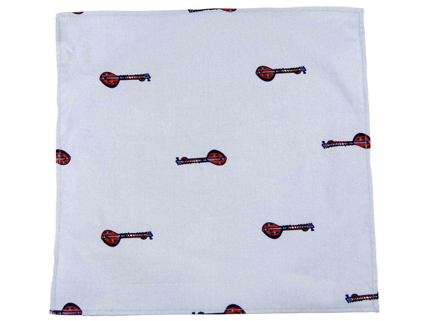 TukTuk Sky Sitar Handkerchief Pocket Square