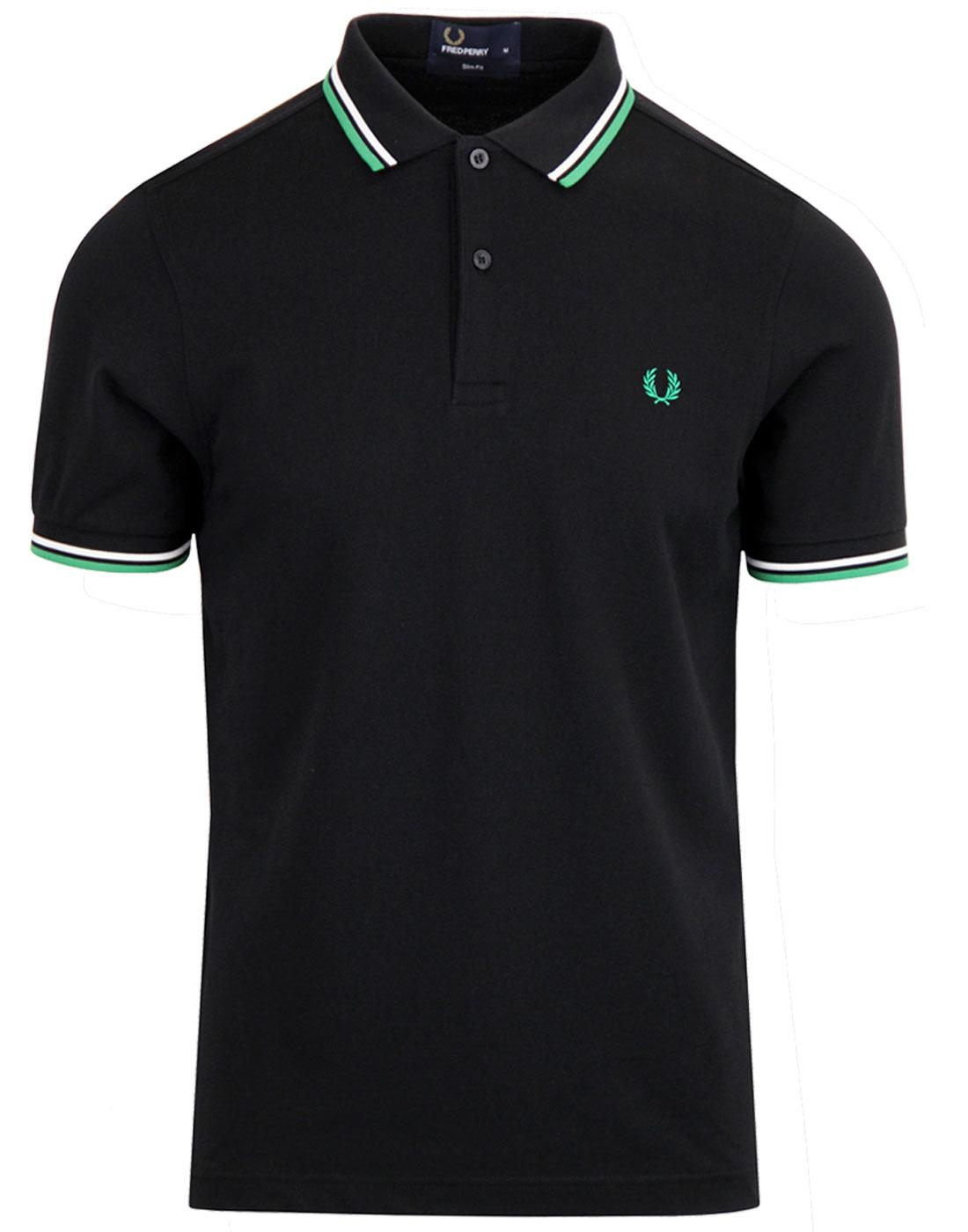 FRED PERRY M3600 Mod Twin Tipped Polo Shirt Black