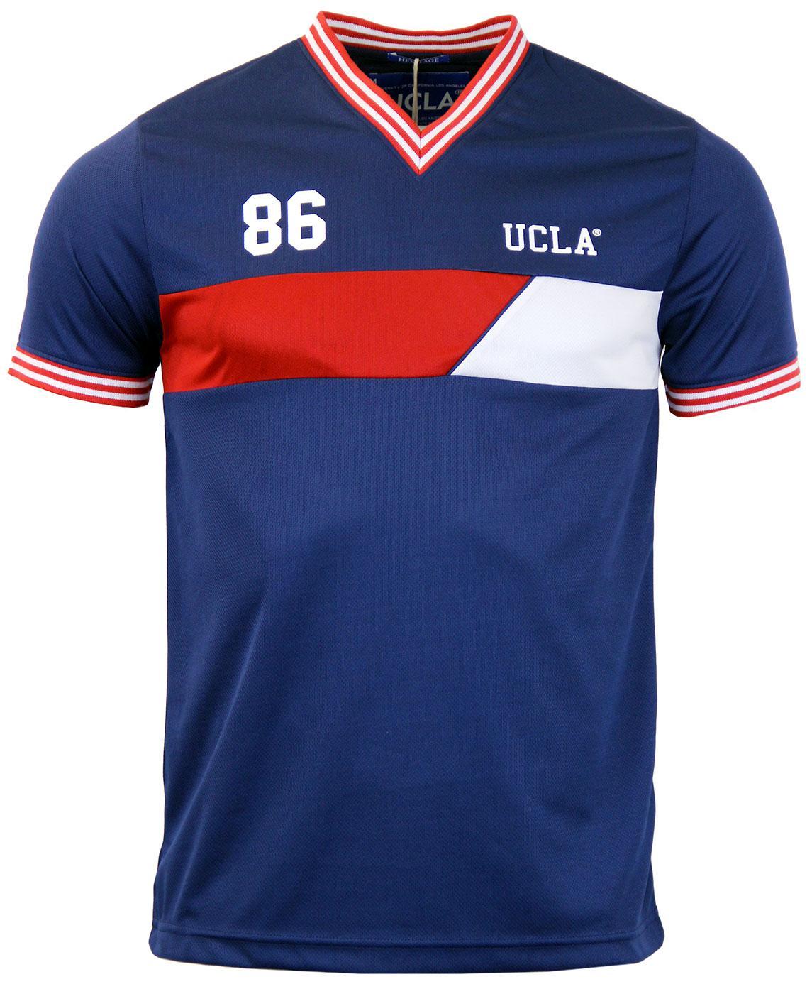 Dorral UCLA Retro Indie V-Neck Chest Panel T-shirt