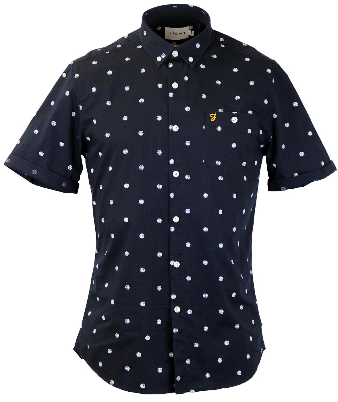 Victor FARAH VINTAGE Retro Etched Polka Dot Shirt