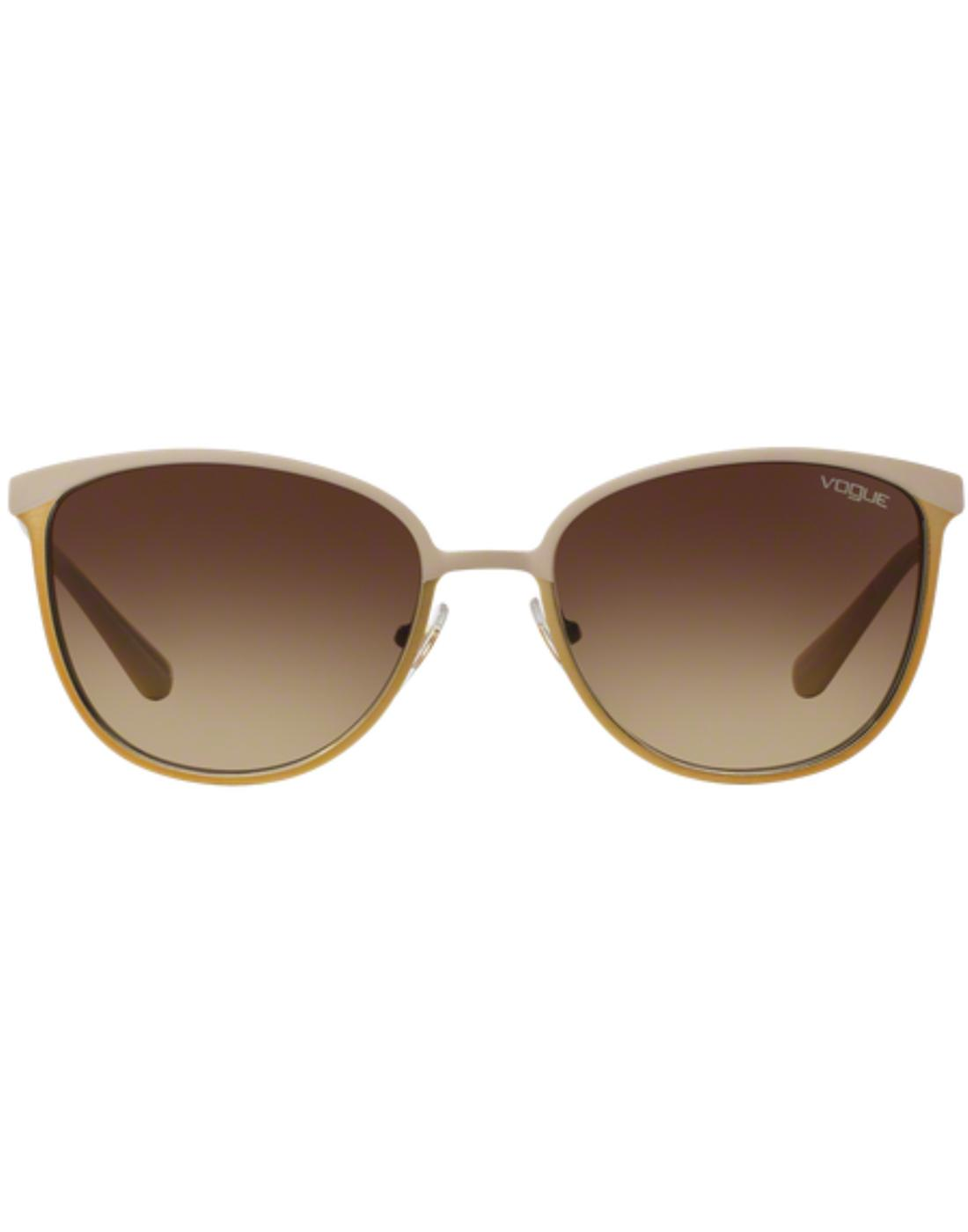 VOGUE Retro 60s Vintage Cats-Eye Large Sunglasses
