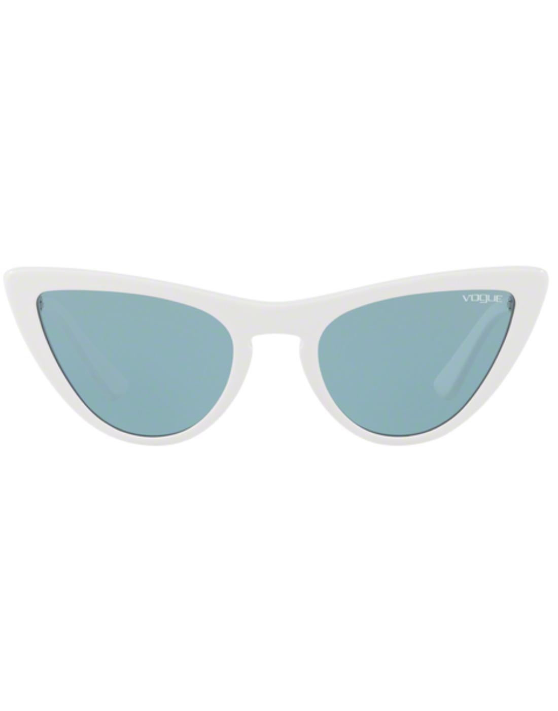 VOGUE Gigi Hadid Retro 50s Vamp Sunglasses White