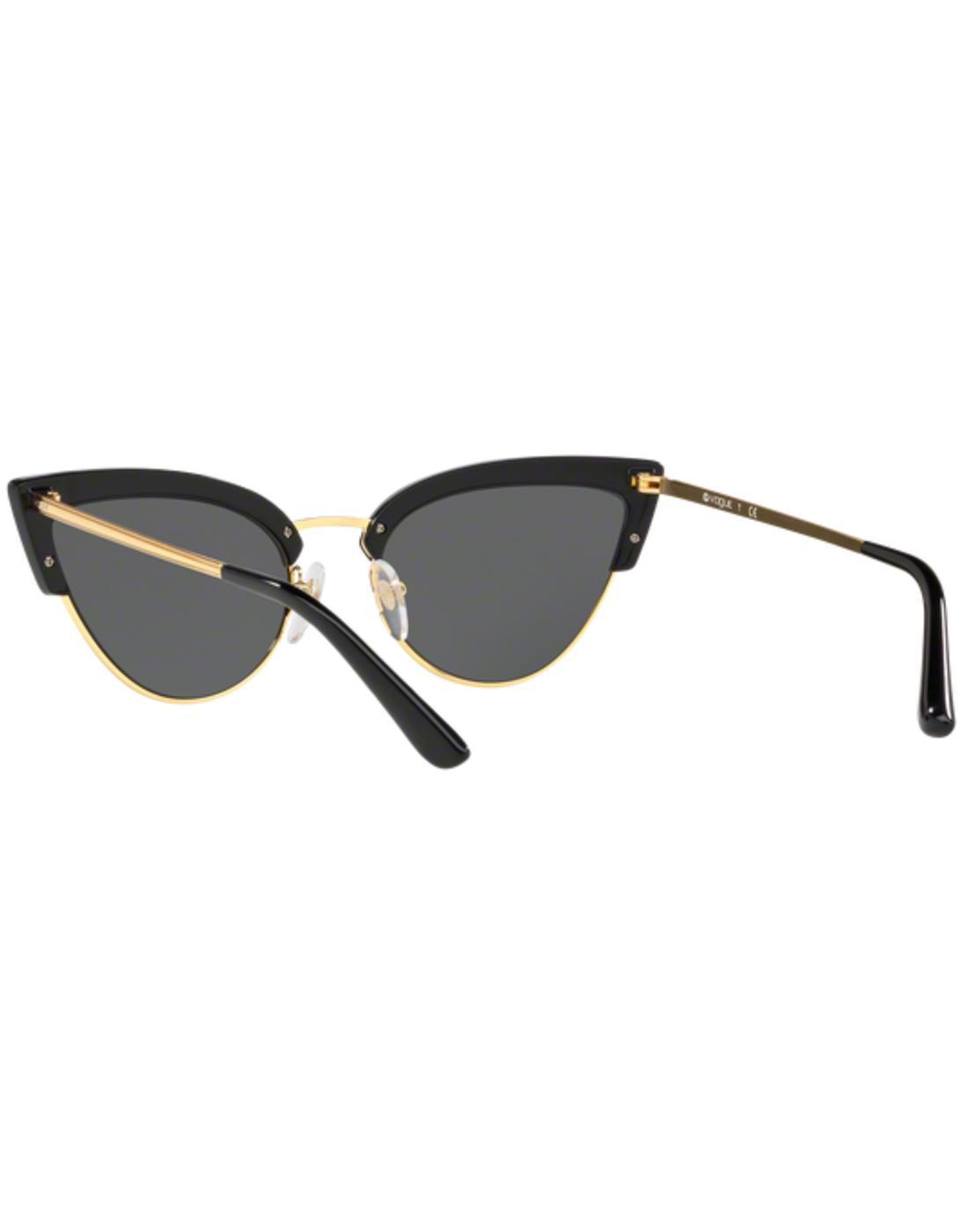 e184d4b86398 VOGUE Retro 50s Vintage Cats-Eye Sunglasses in Black