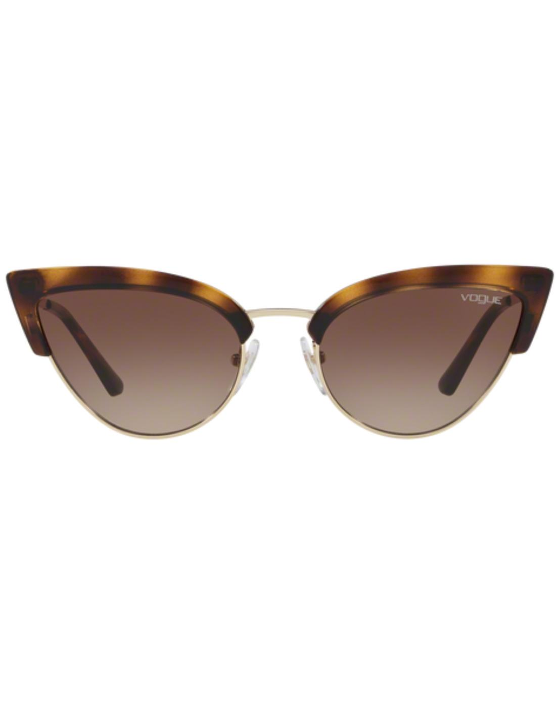VOGUE Retro 50s Vintage Cats-Eye Sunglasses Havana