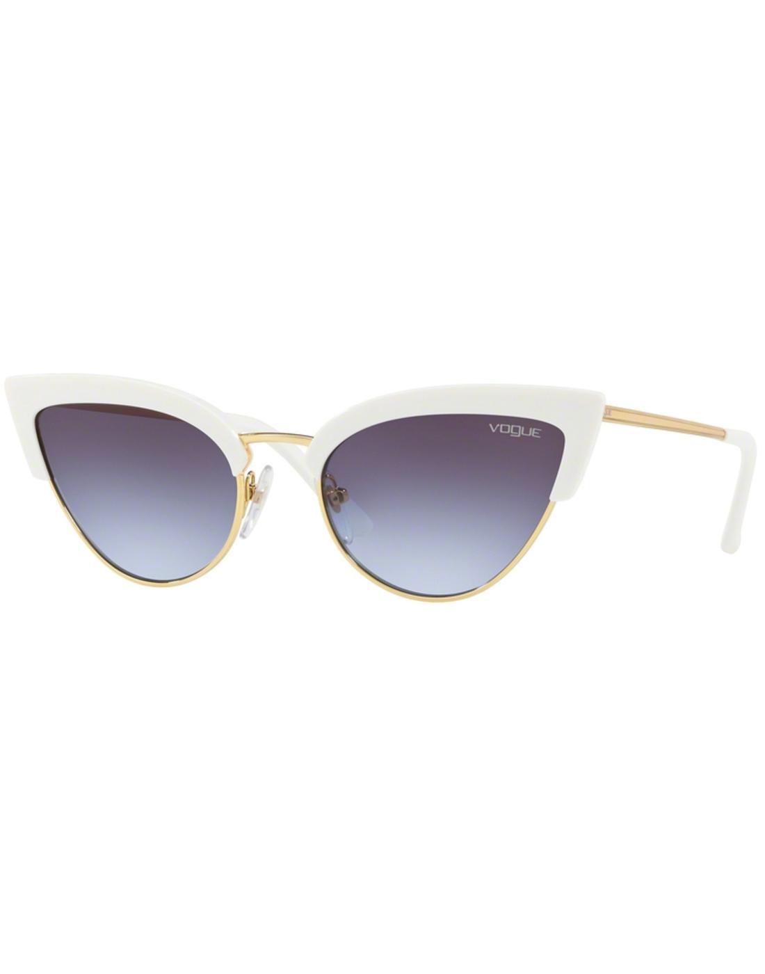514cc89c1adf VOGUE Retro 50s Vintage Cats-Eye Sunglasses in White