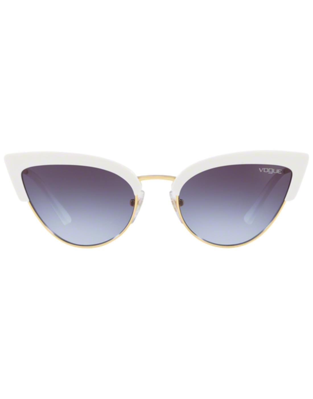 VOGUE Retro 50s Vintage Cats-Eye Sunglasses White