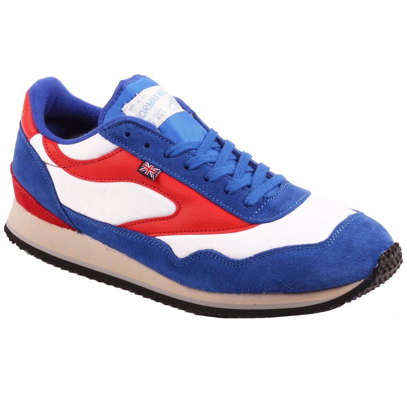 Ensign WALSH Made in England Retro Trainers W/R/B