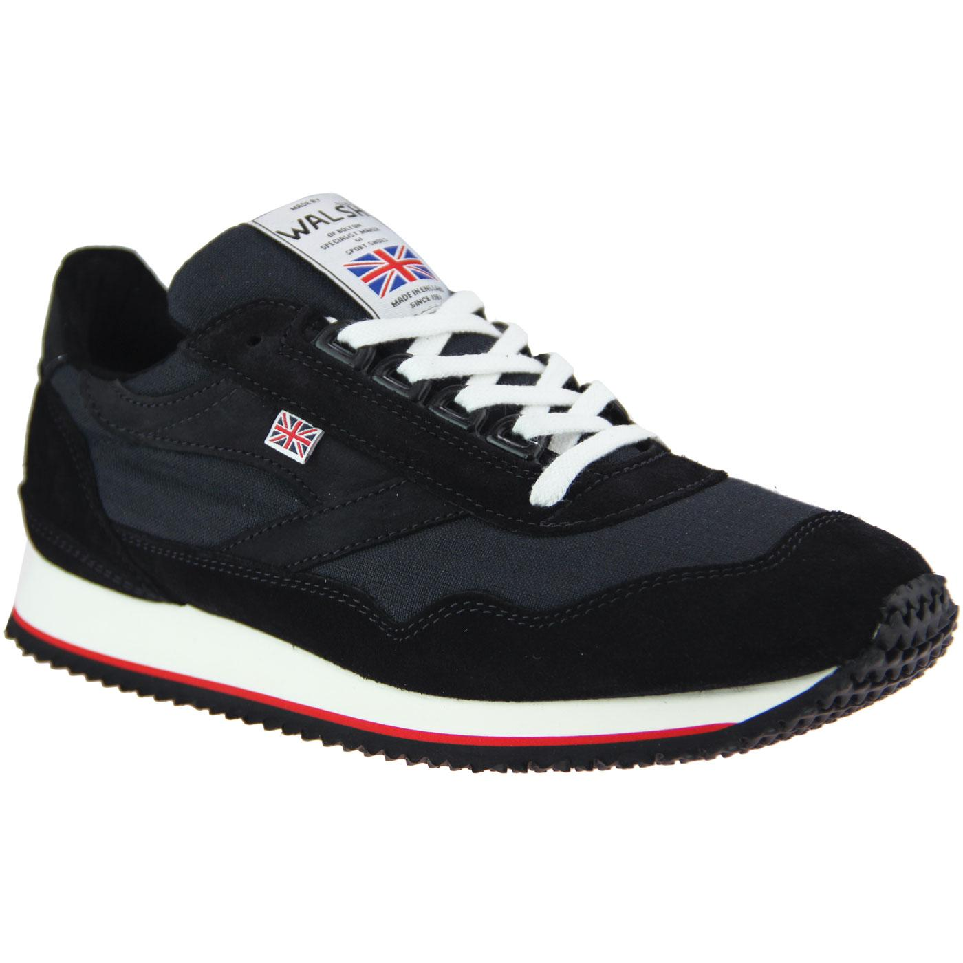 Ensign WALSH Made in England Retro Trainers CARBON