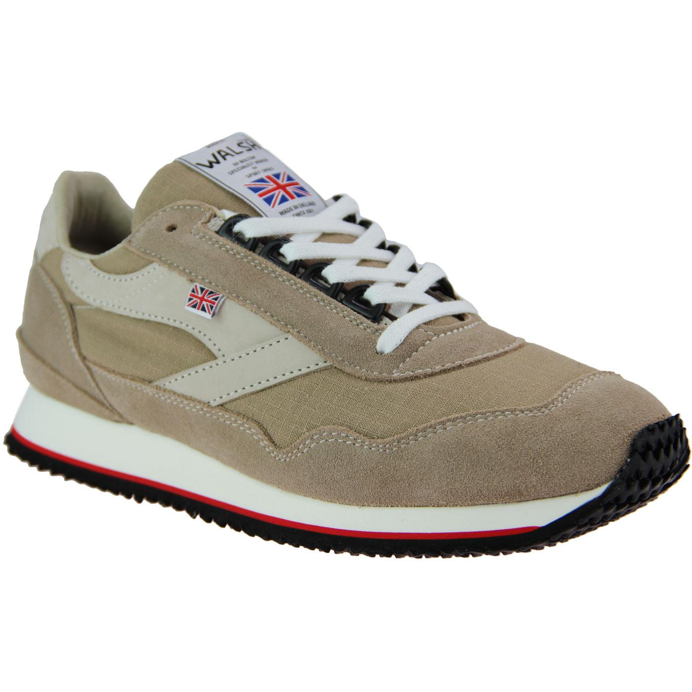 Ensign WALSH Made in England Retro Trainers DESERT