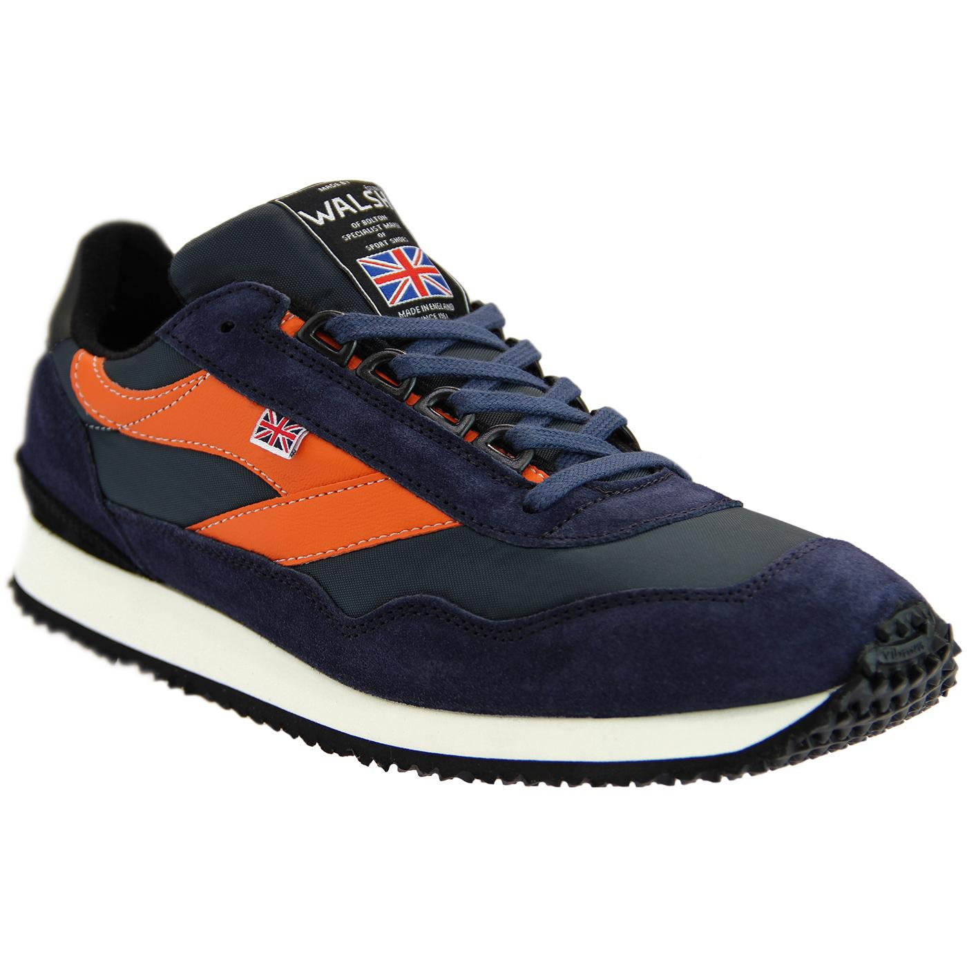 Ensign WALSH Made in England Retro Trainers (Navy)